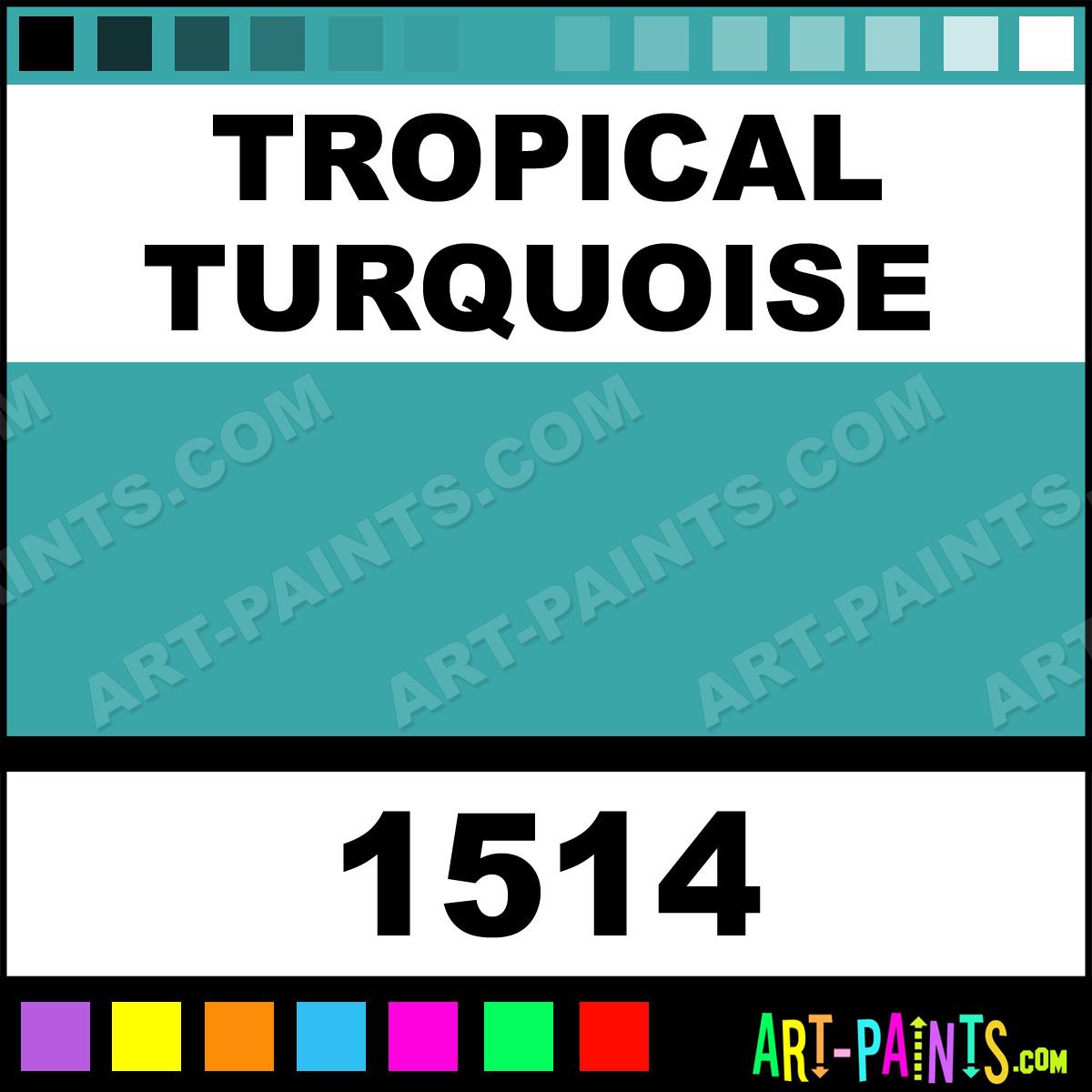 Tropical turquoise acrylic enamel paints 1514 tropical for Tropical paint colors