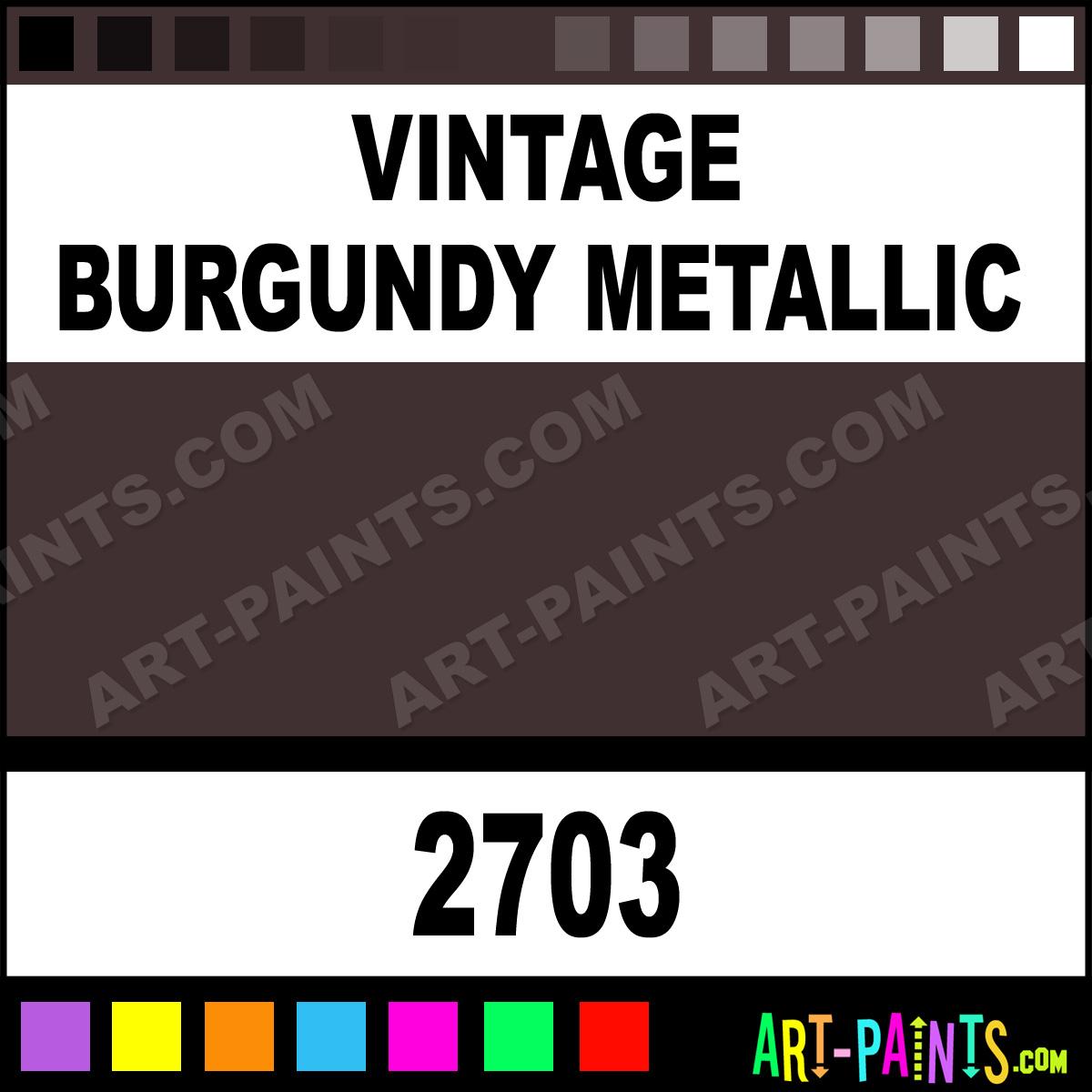 Vintage burgundy metallic acrylic enamel paints 2703 for Burgundy paint color samples