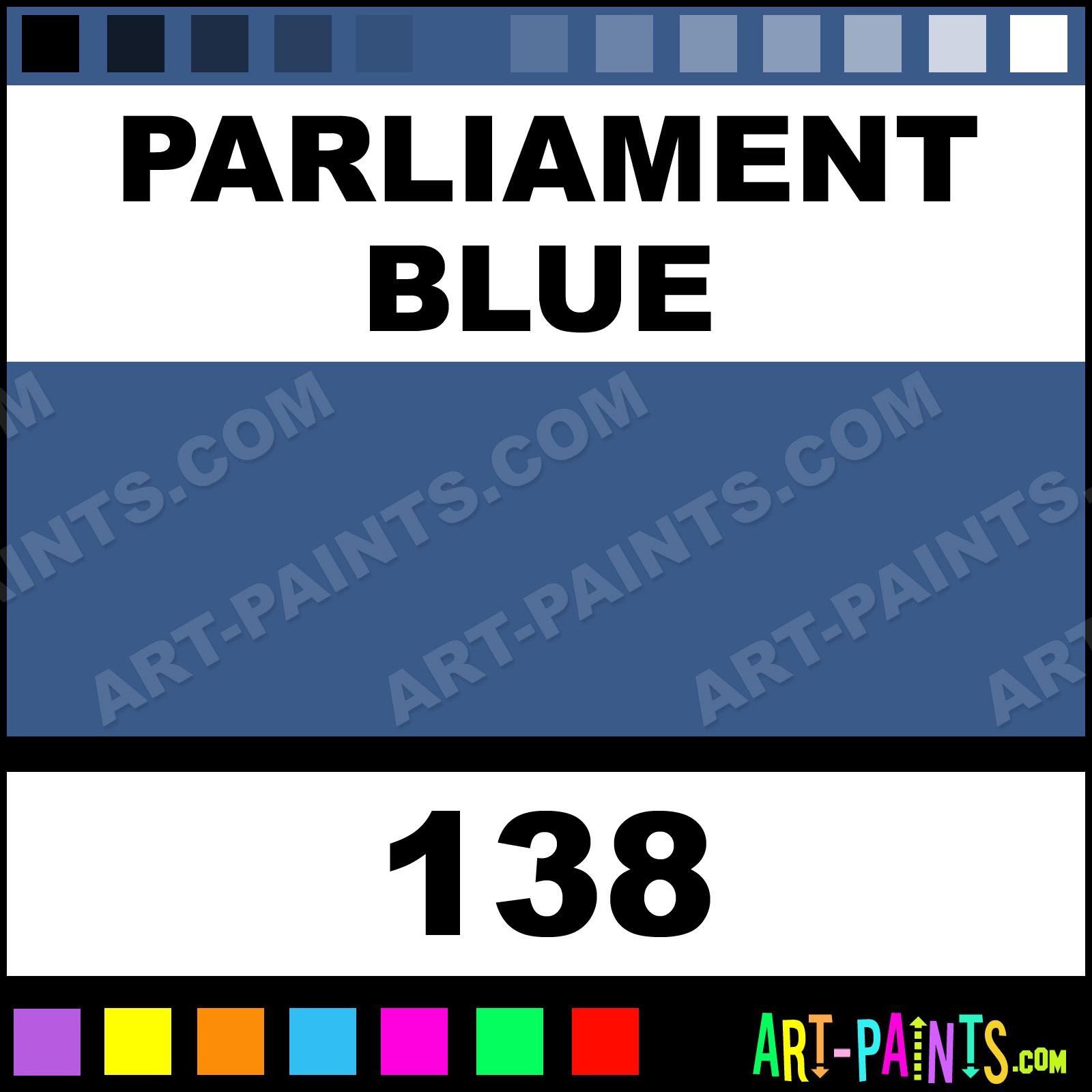 Parliament Blue Synthetic Enamel Paints 138 Parliament Blue Paint Parliament Blue Color