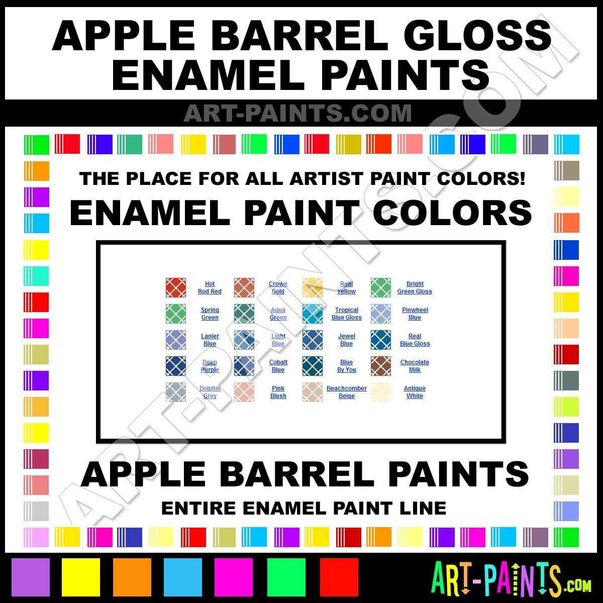 Apple Barrel Gloss Enamel Paint Colors