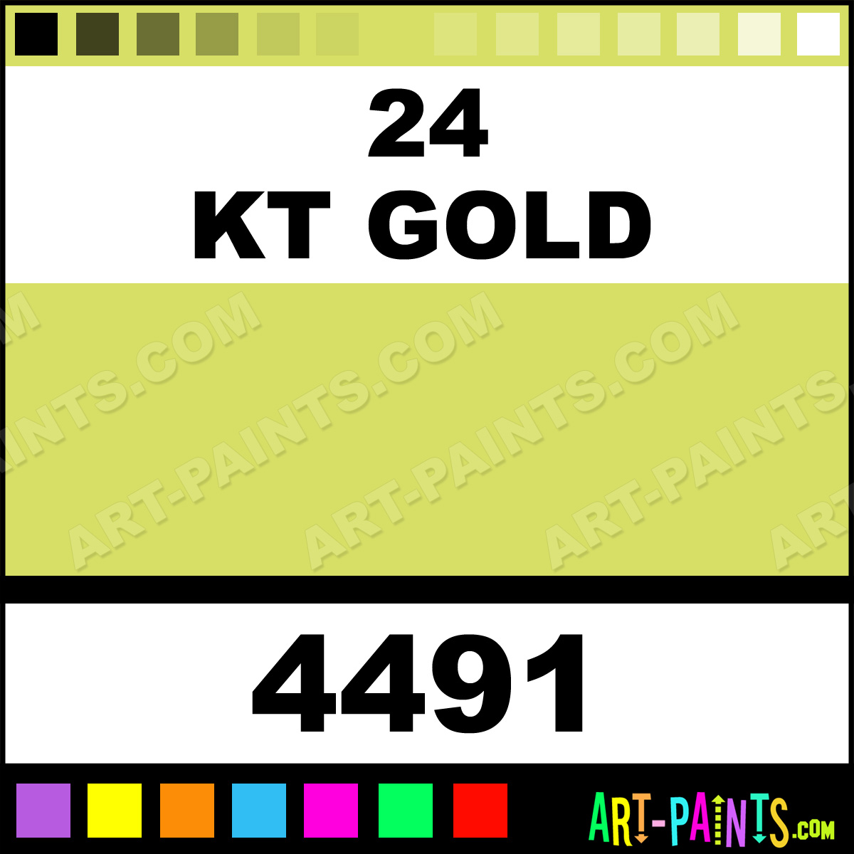 24 Kt Gold Metallic Spray Enamel Paints 4491 24 Kt