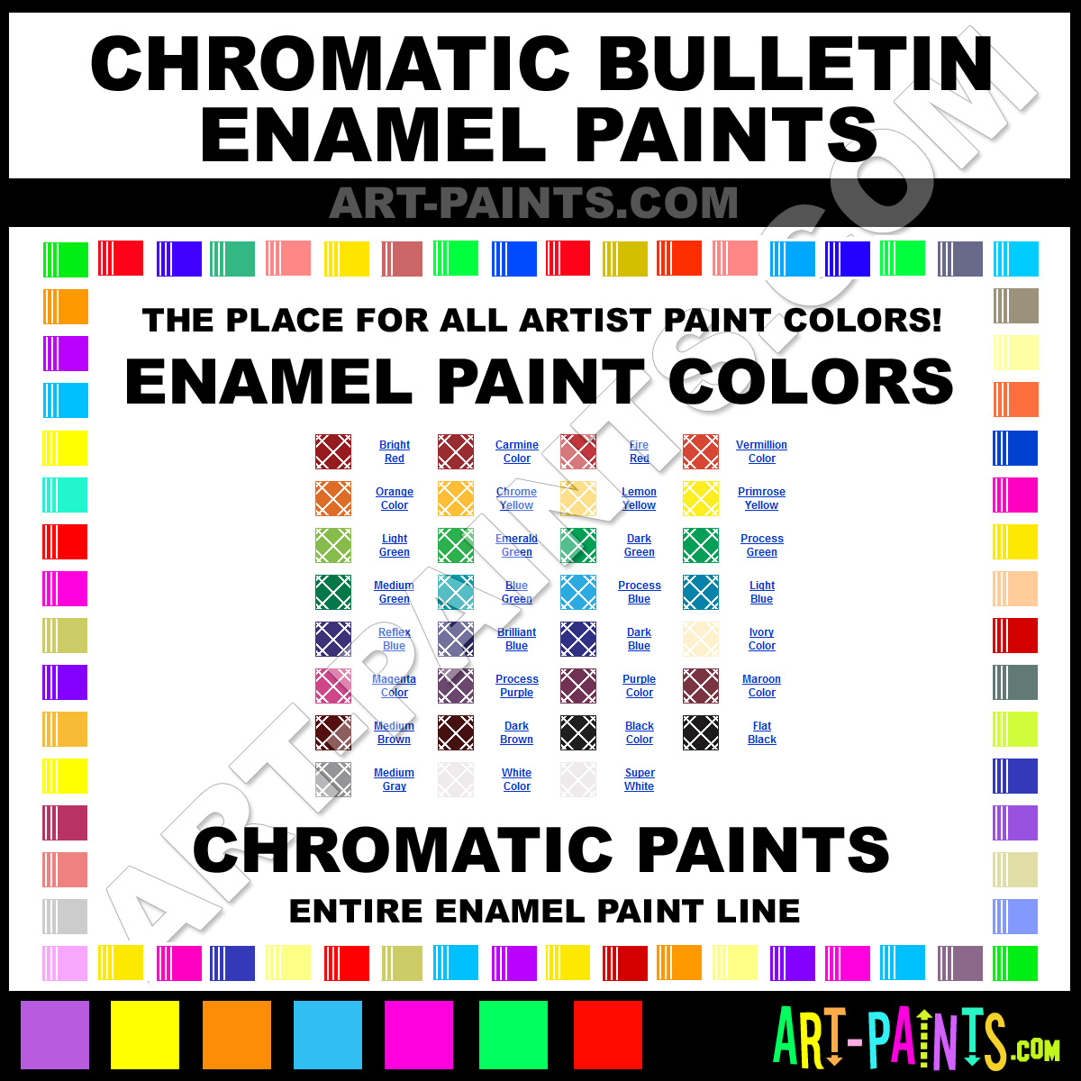 Chromatic Bulletin Enamel Paint Colors Chromatic