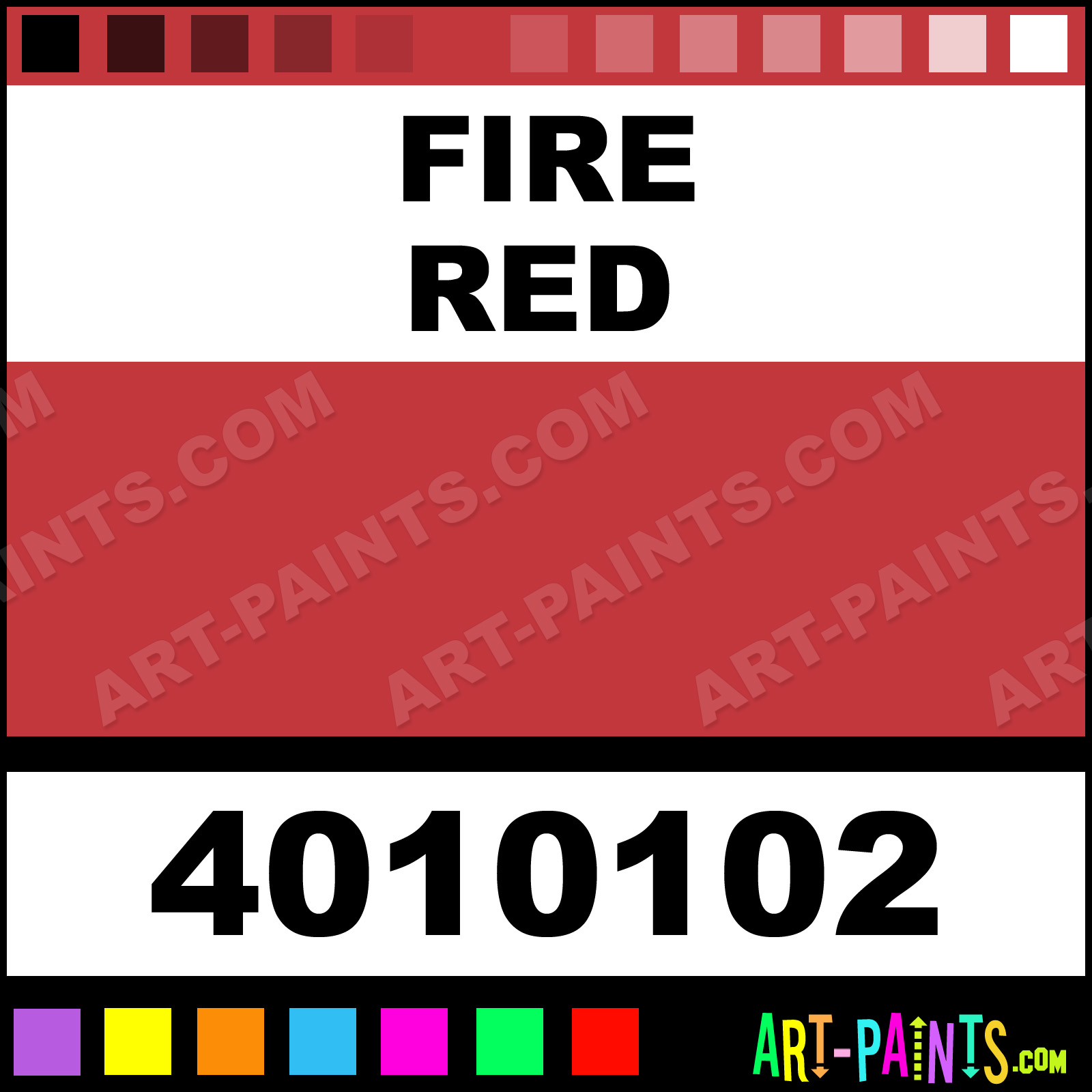 Fire Red Paint