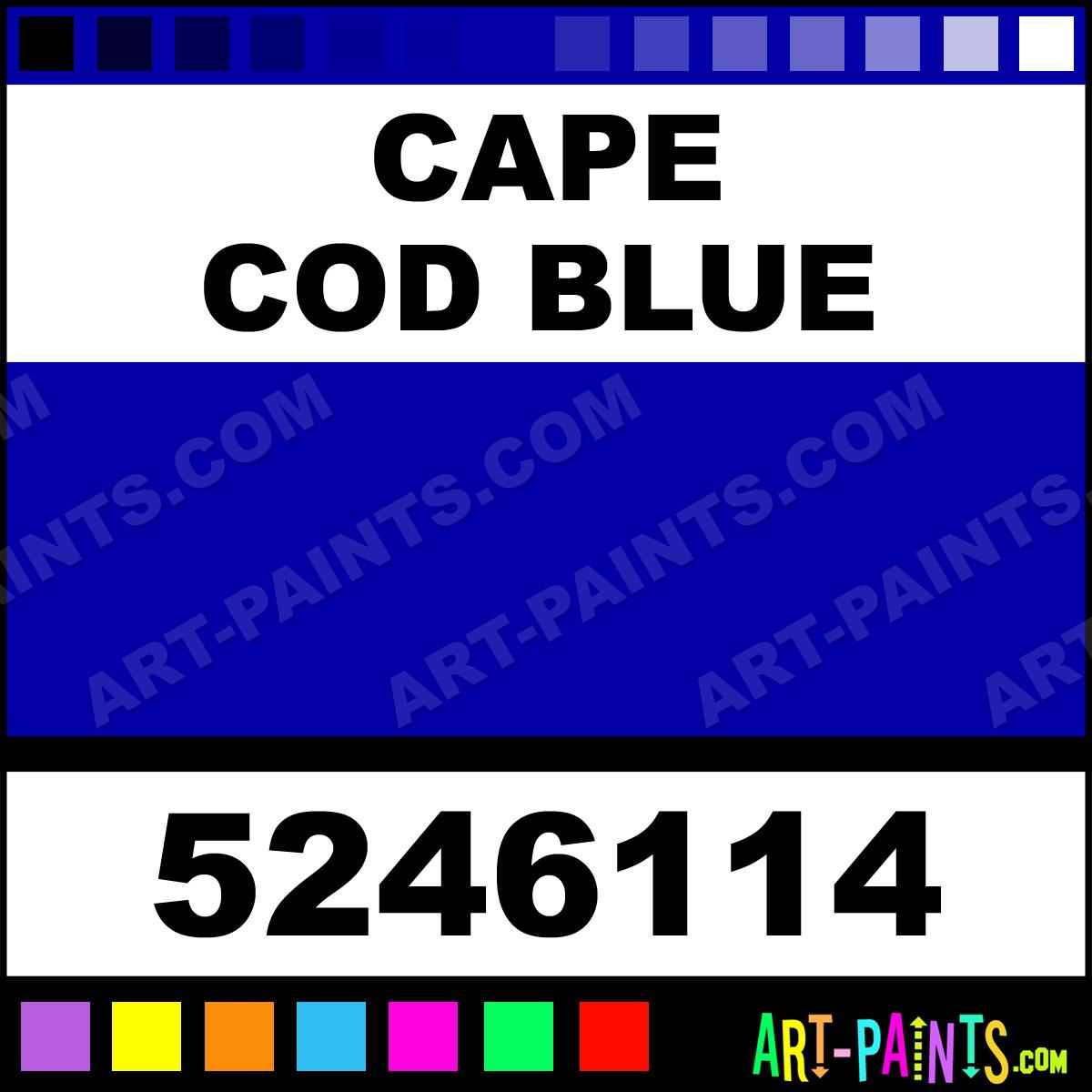Cape Cod Blue Dry Permenamel Enamel Paints 5246114
