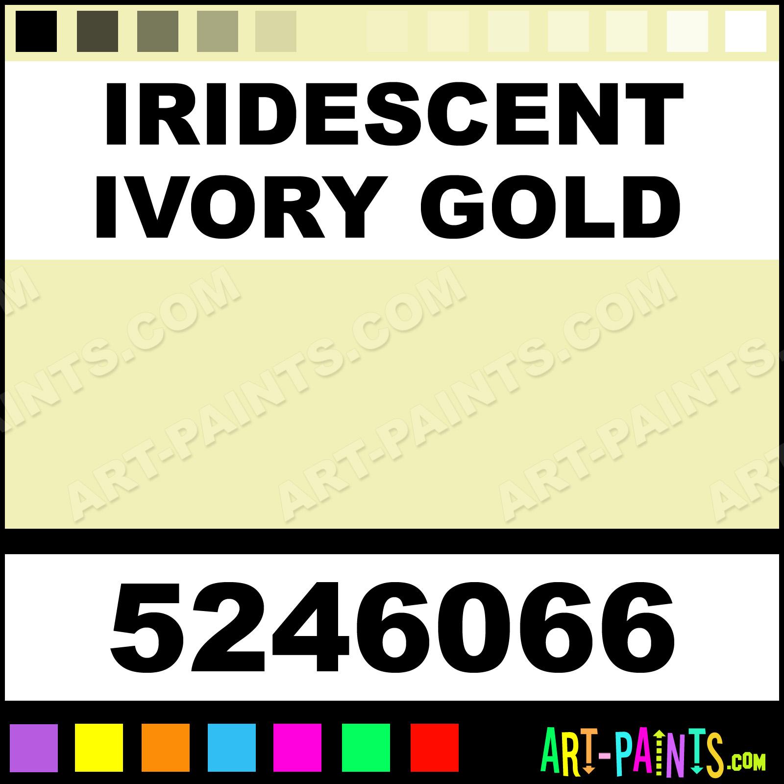 Iridescent Ivory Gold Dry PermEnamel Enamel Paints - 5246066
