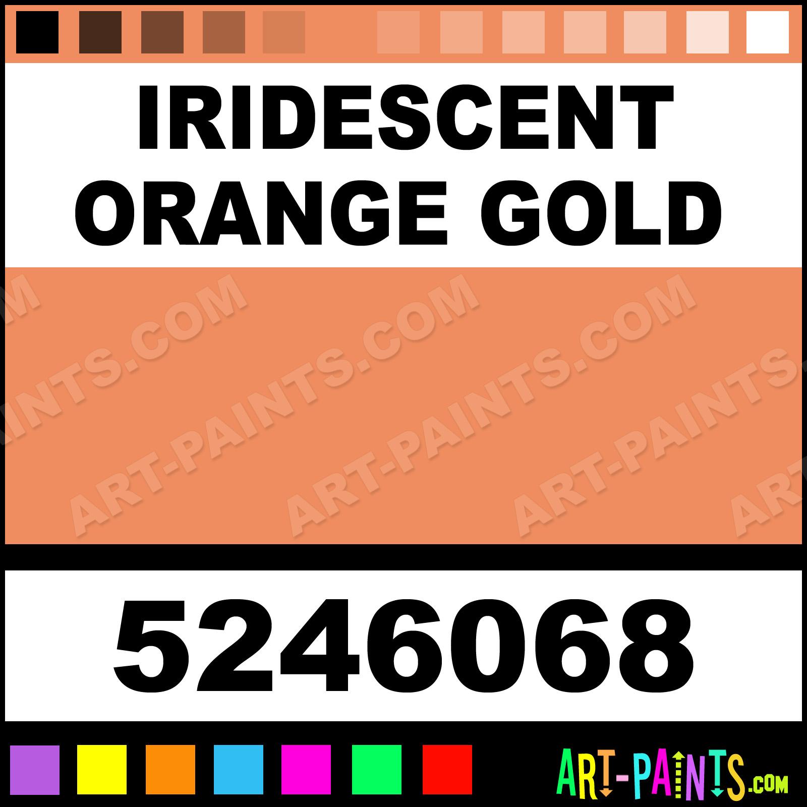 Iridescent Orange Gold Dry Permenamel Enamel Paints