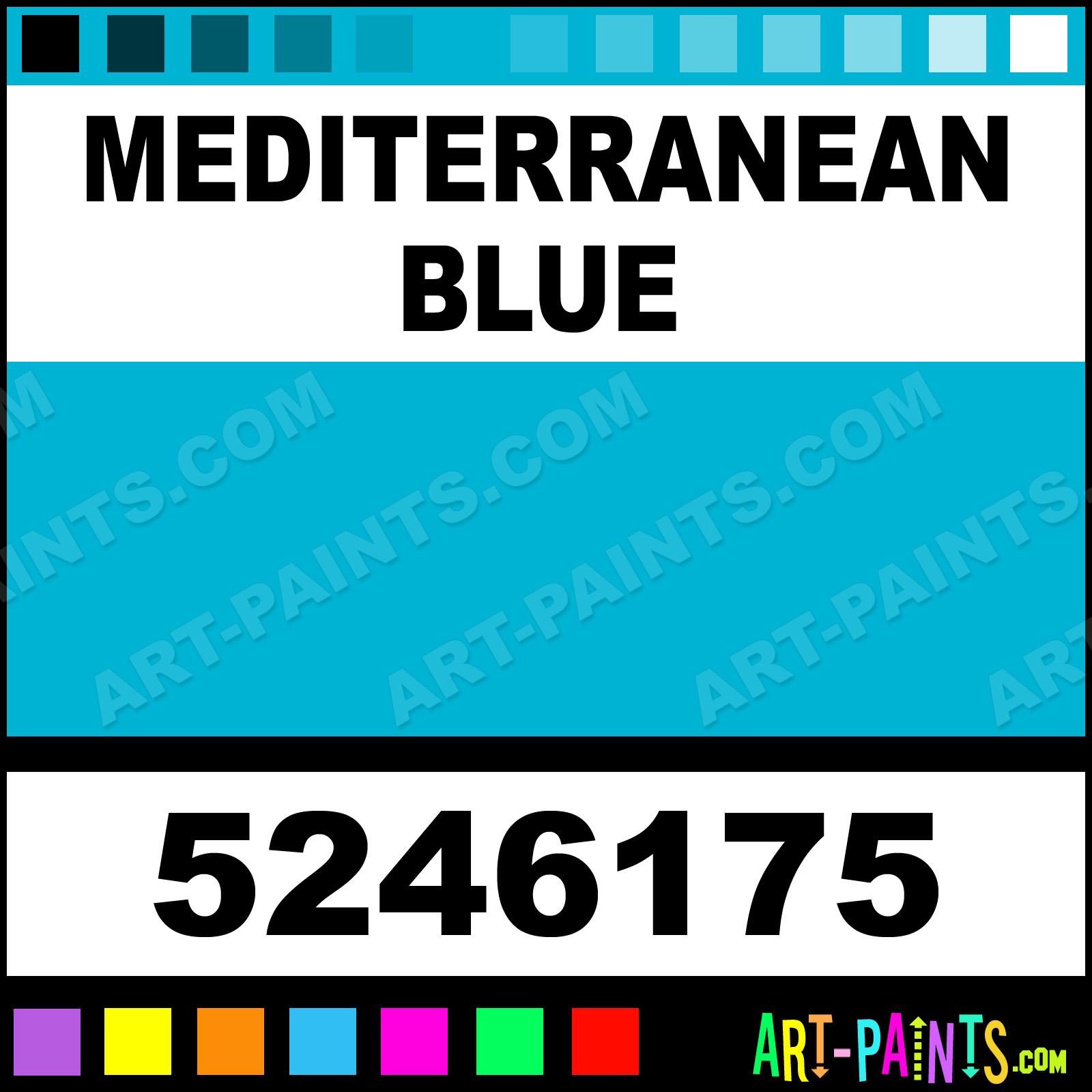 Delta Air Paints Mediterranean Blue Dry Permenamel