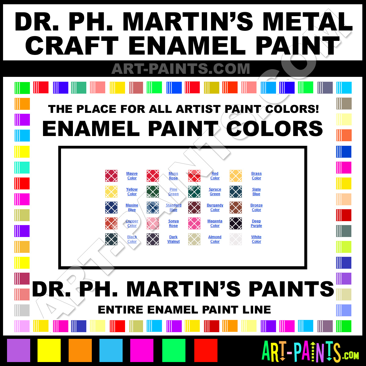 Dr ph martins metal craft enamel paint colors dr ph for Craft paint for metal