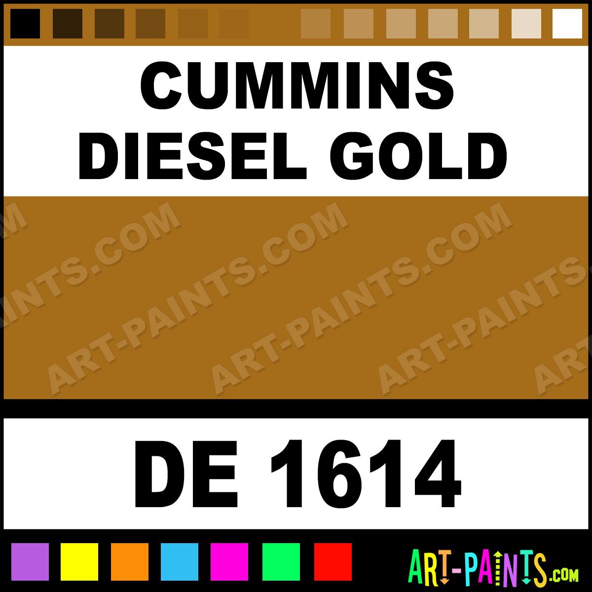 Cummins Diesel Gold Paint DE 1614 by ...