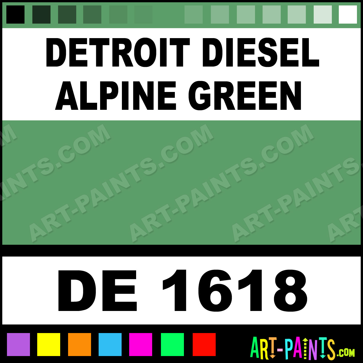 Detroit Diesel Alpine Green Paint Code