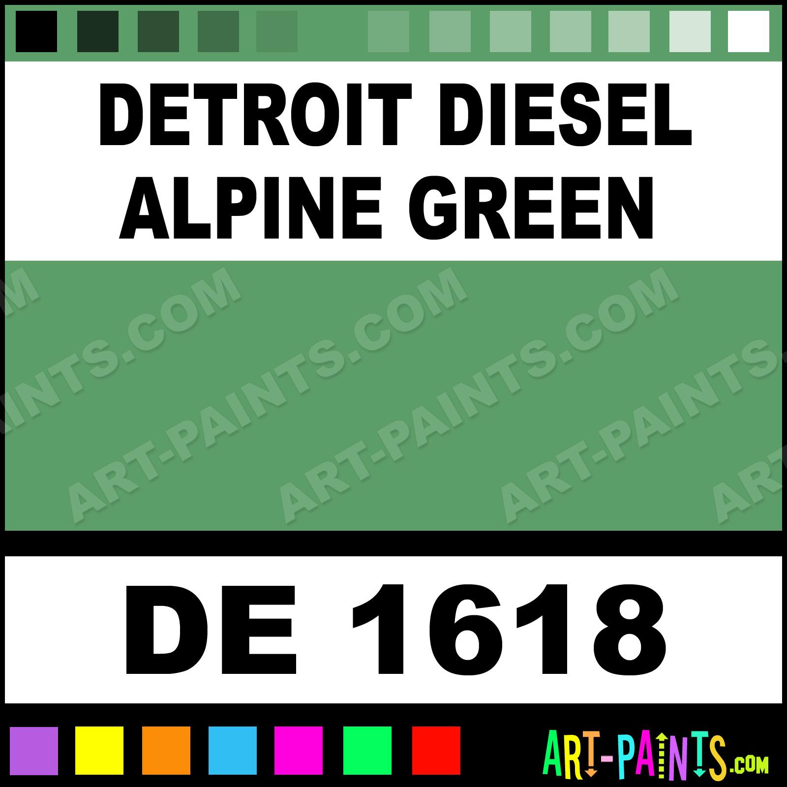 Detroit Diesel Paint Color