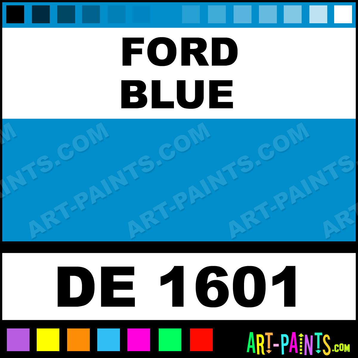 Ford Blue Engine Enamel Paints - DE 1601 - Ford Blue Paint, Ford Blue Color, Dupli-Color Engine ...