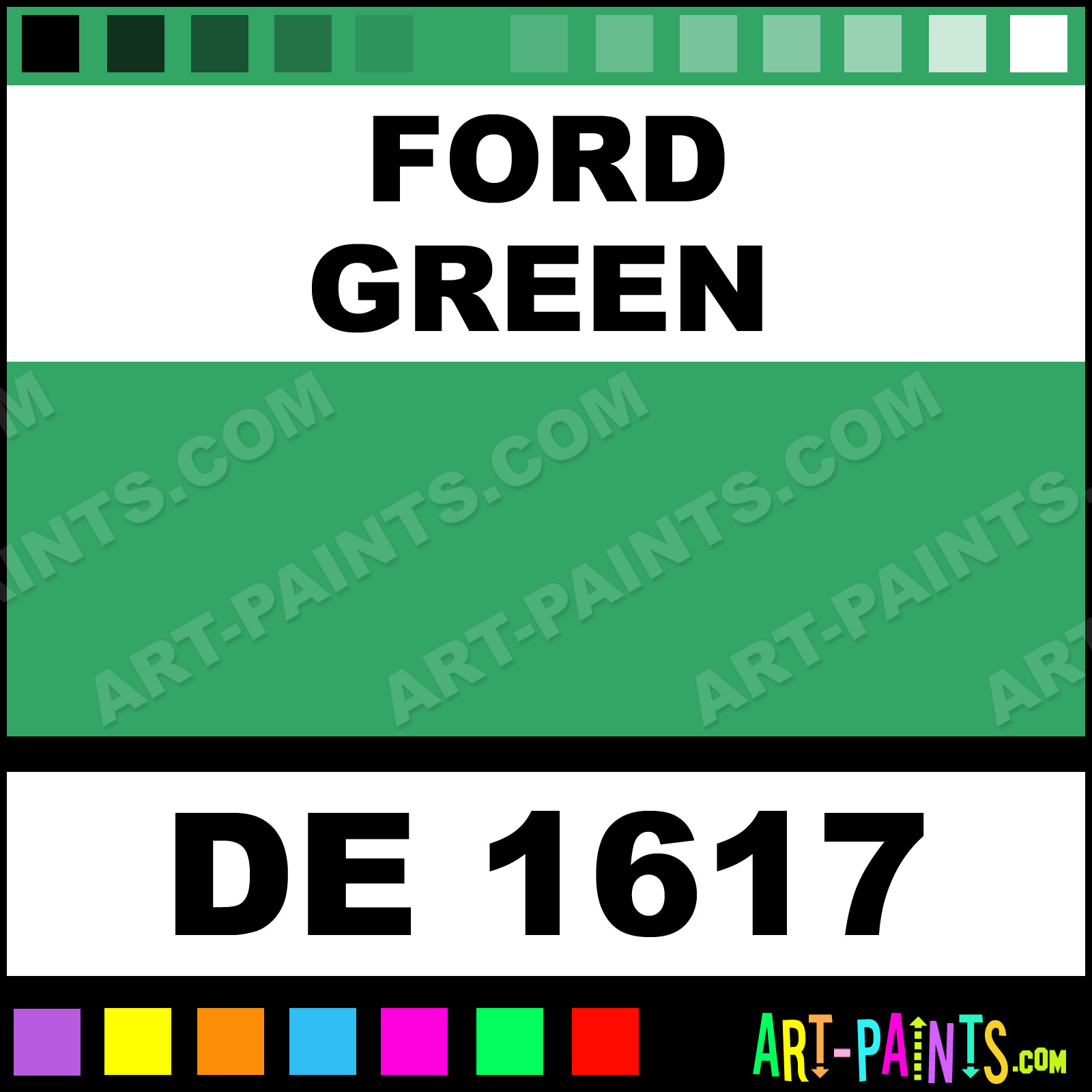 Ford green engine enamel paints de 1617 ford green for Ford motor paint colors