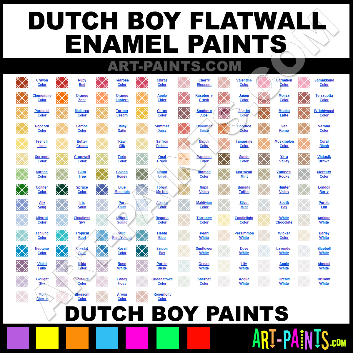 dutch boy flatwall enamel paint colors dutch boy