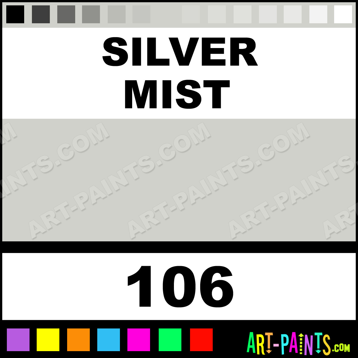 Silver mist flatwall enamel paints 106 silver mist for Silver mist paint color