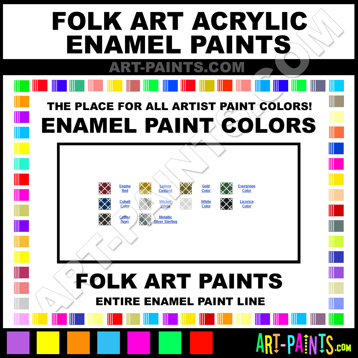 Folk art acrylic paint color chart - Folk Art Enamels Folk Art Acrylic Paints