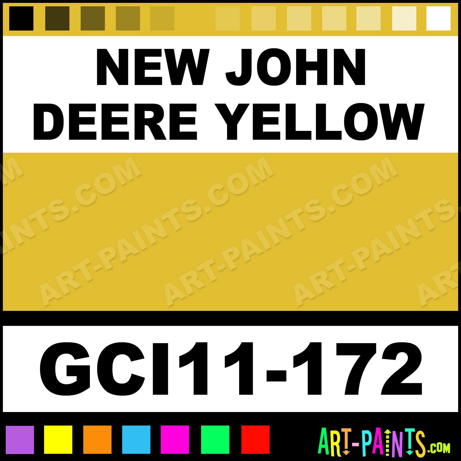 New John Deere Yellow Industrial Enamel Paints Gci11 172
