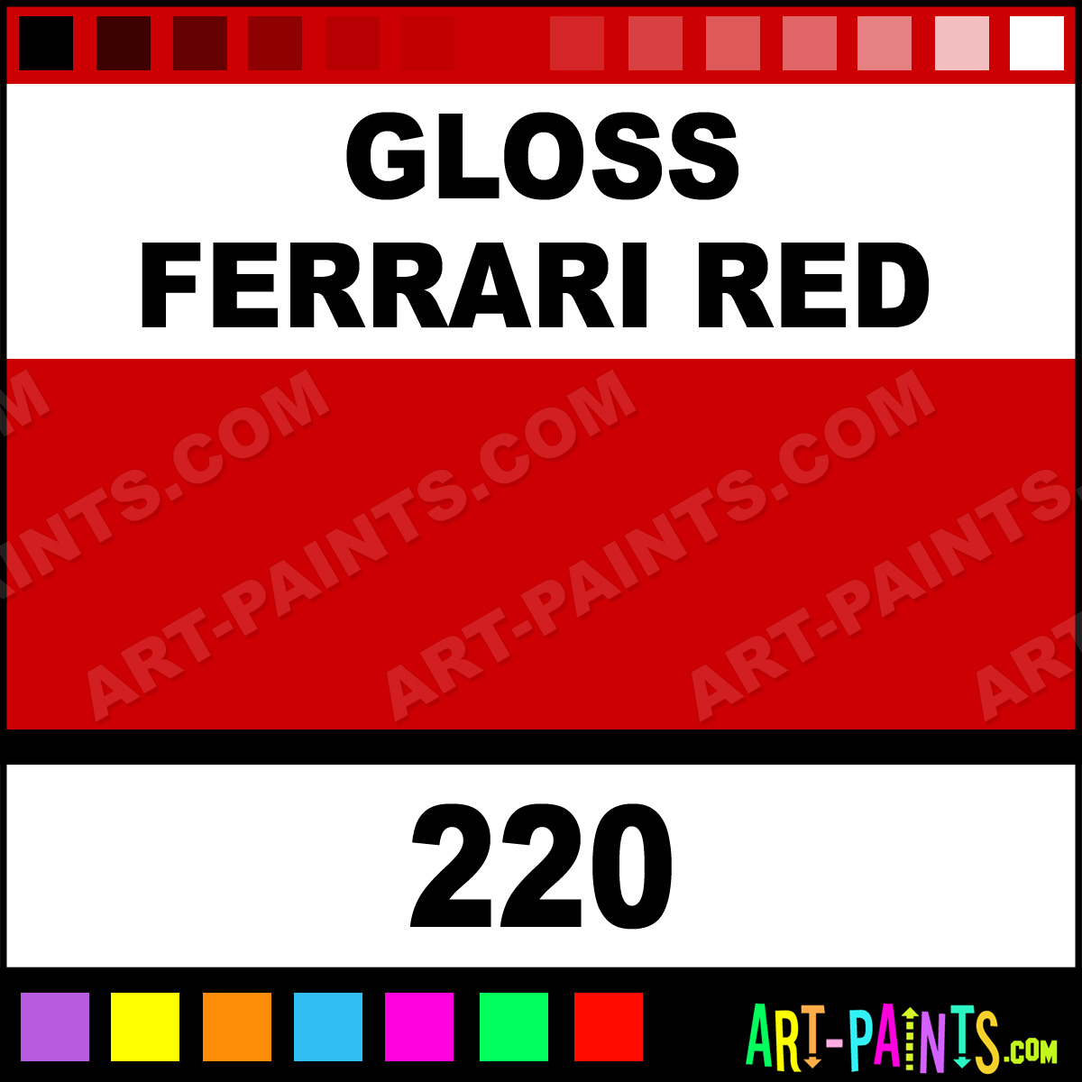 Gloss Ferrari Red Modelling Enamel Paints