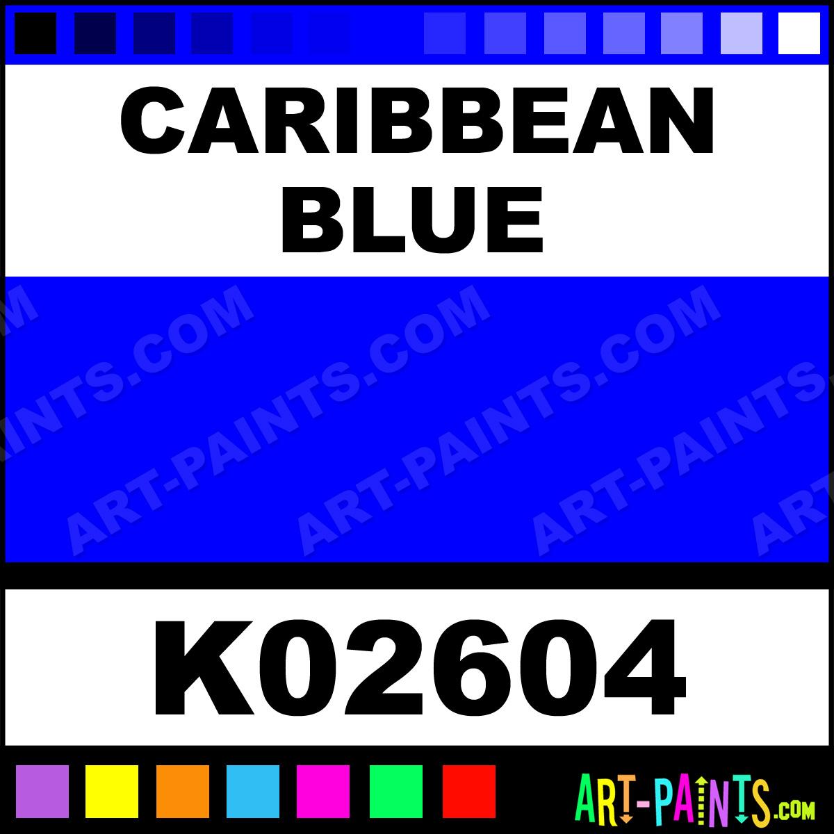 Caribbean Blue H2o Enamel Paints K02604 Paint Color Krylon 0000fe Art
