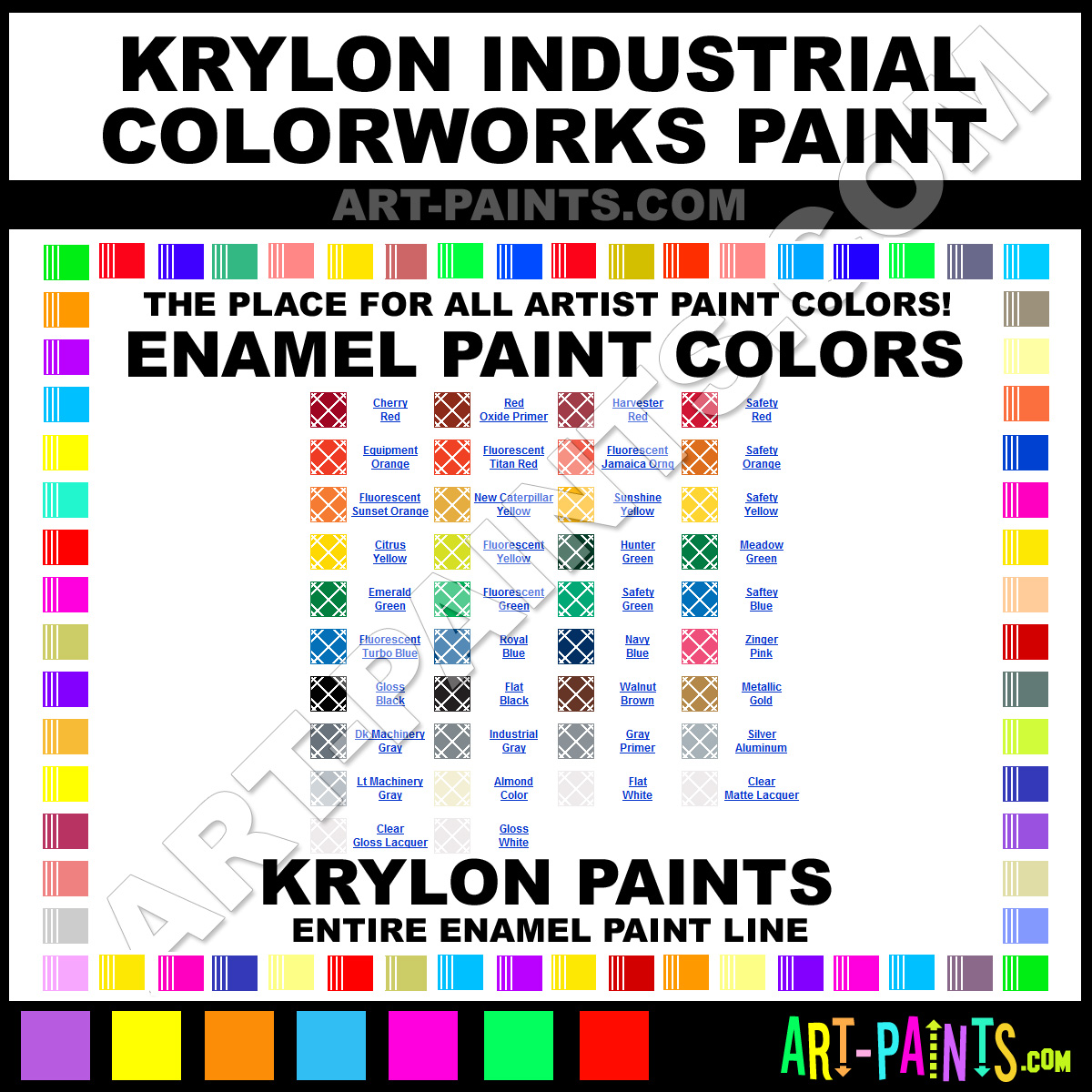 Krylon Industrial Colorworks Enamel Paint Colors Krylon Industrial Colorworks Paint Colors