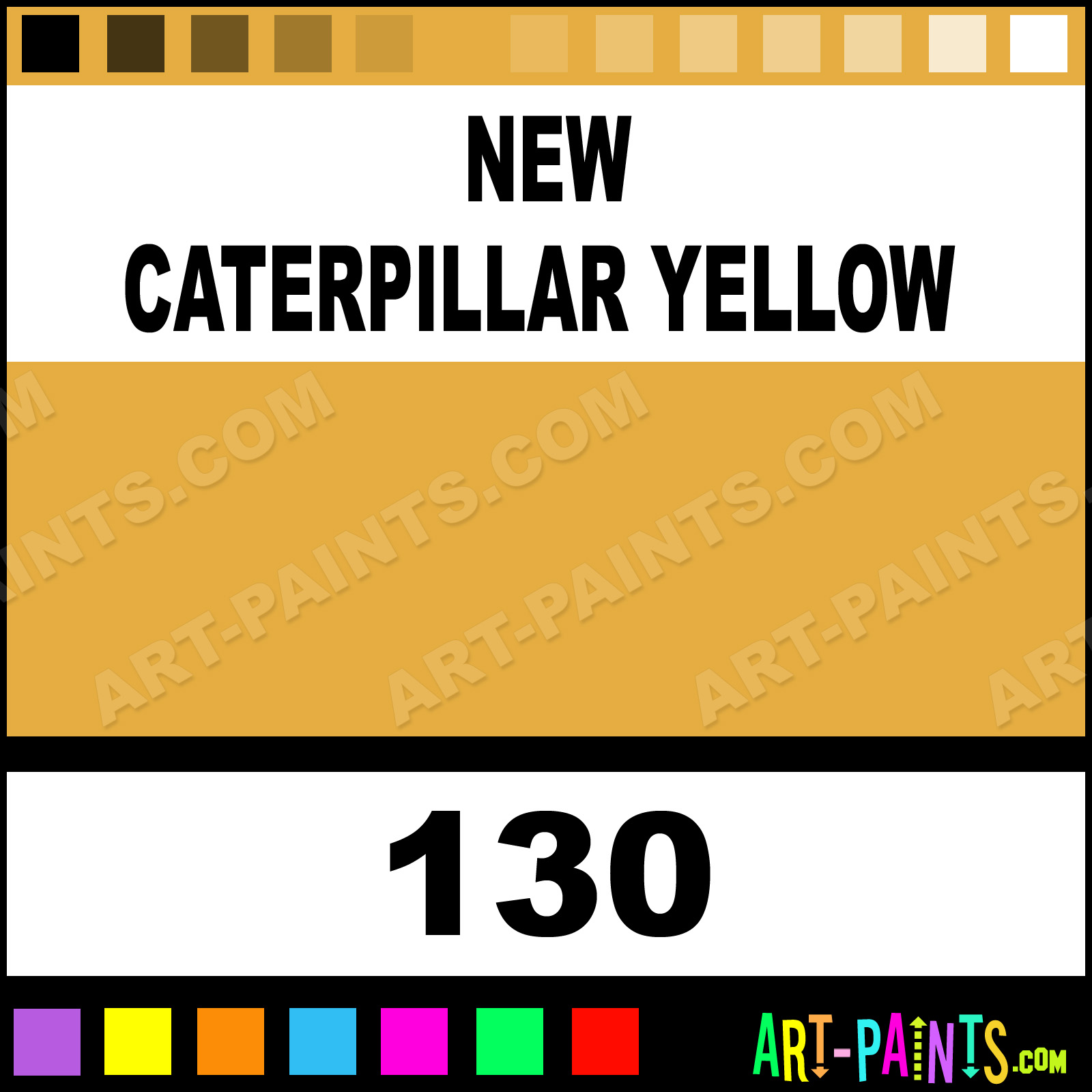 New Caterpillar Yellow Industrial ColorWorks Enamel Paints