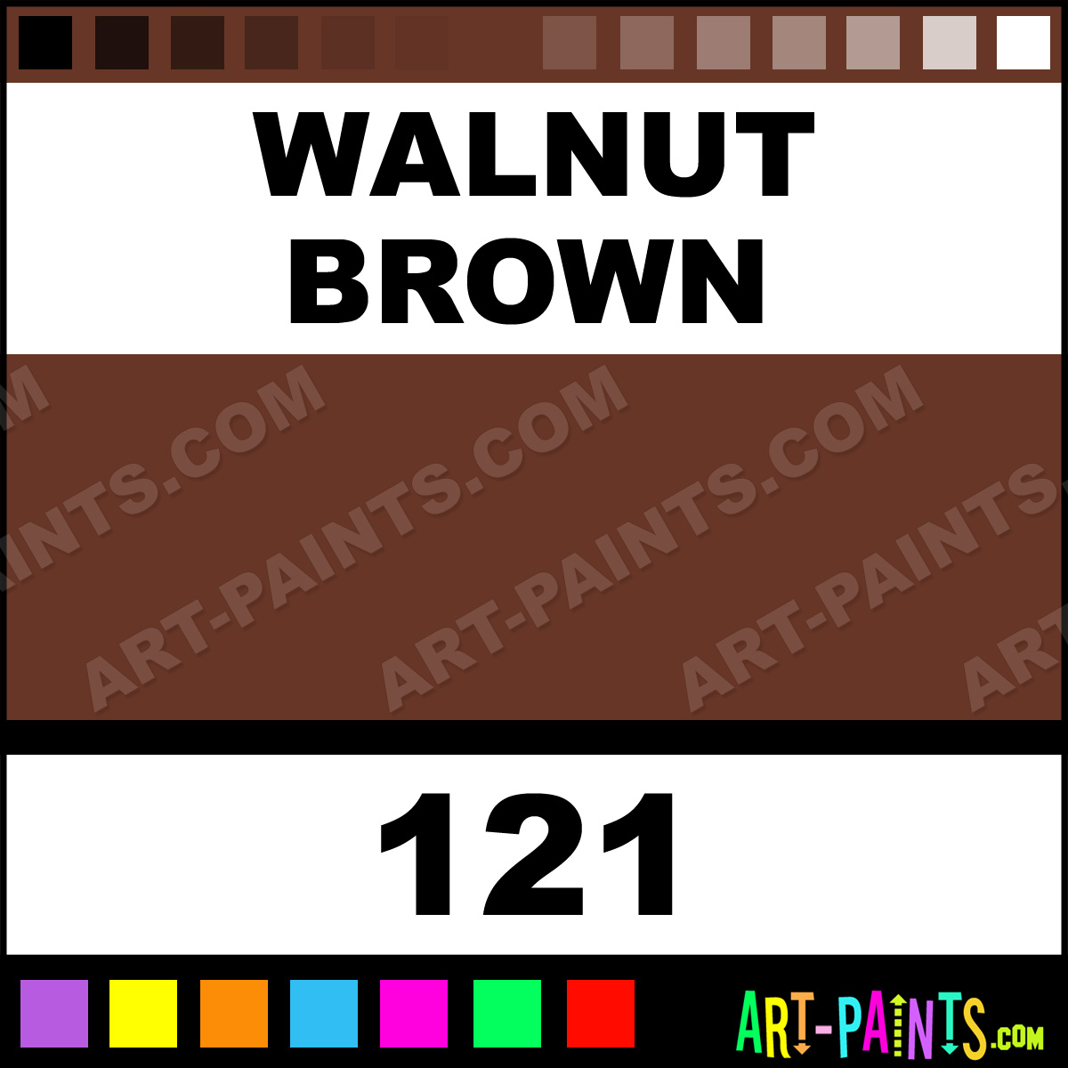 Walnut Brown Industrial Colorworks Enamel Paints 121