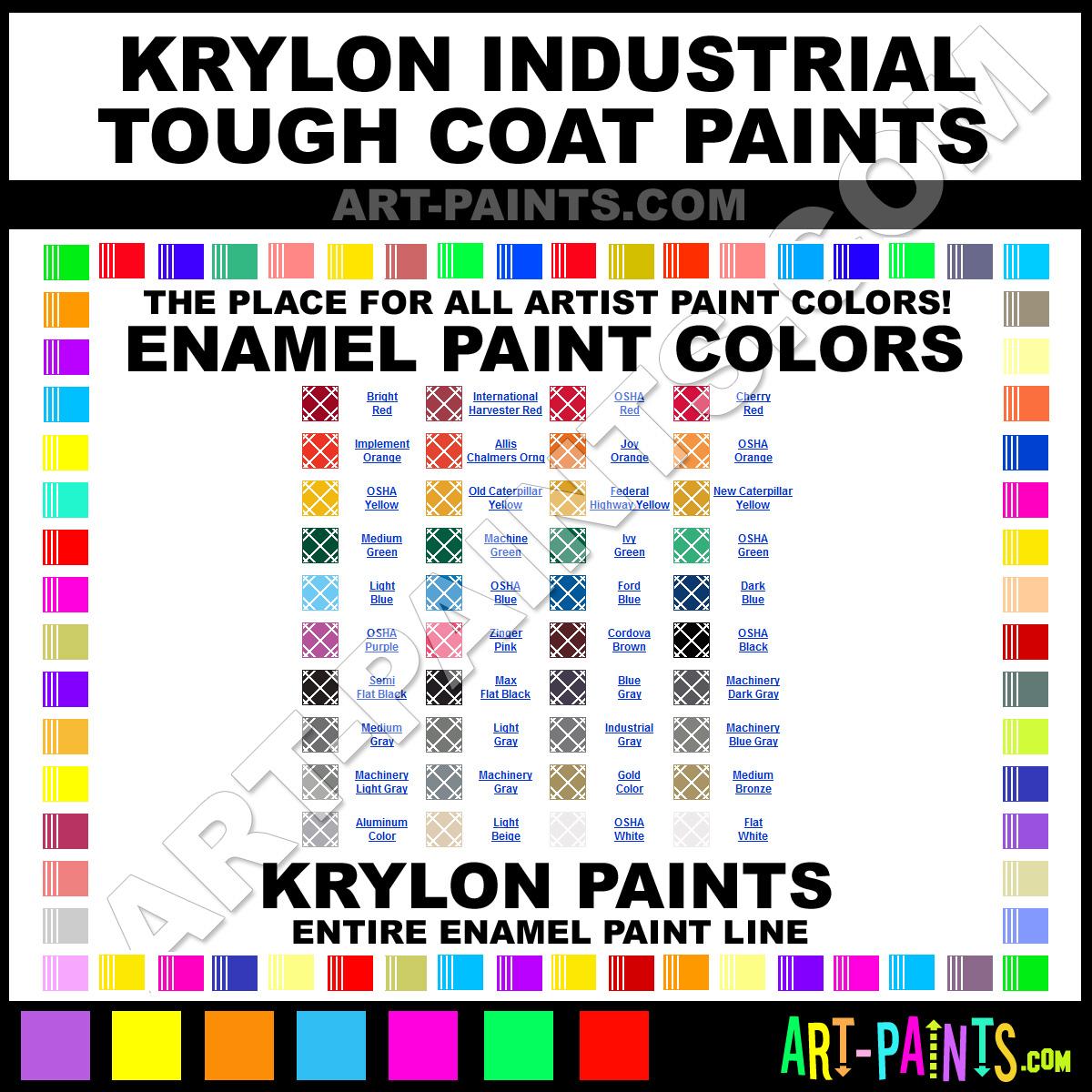 Krylon Industrial Tough Coat Enamel Paint Colors Krylon Industrial