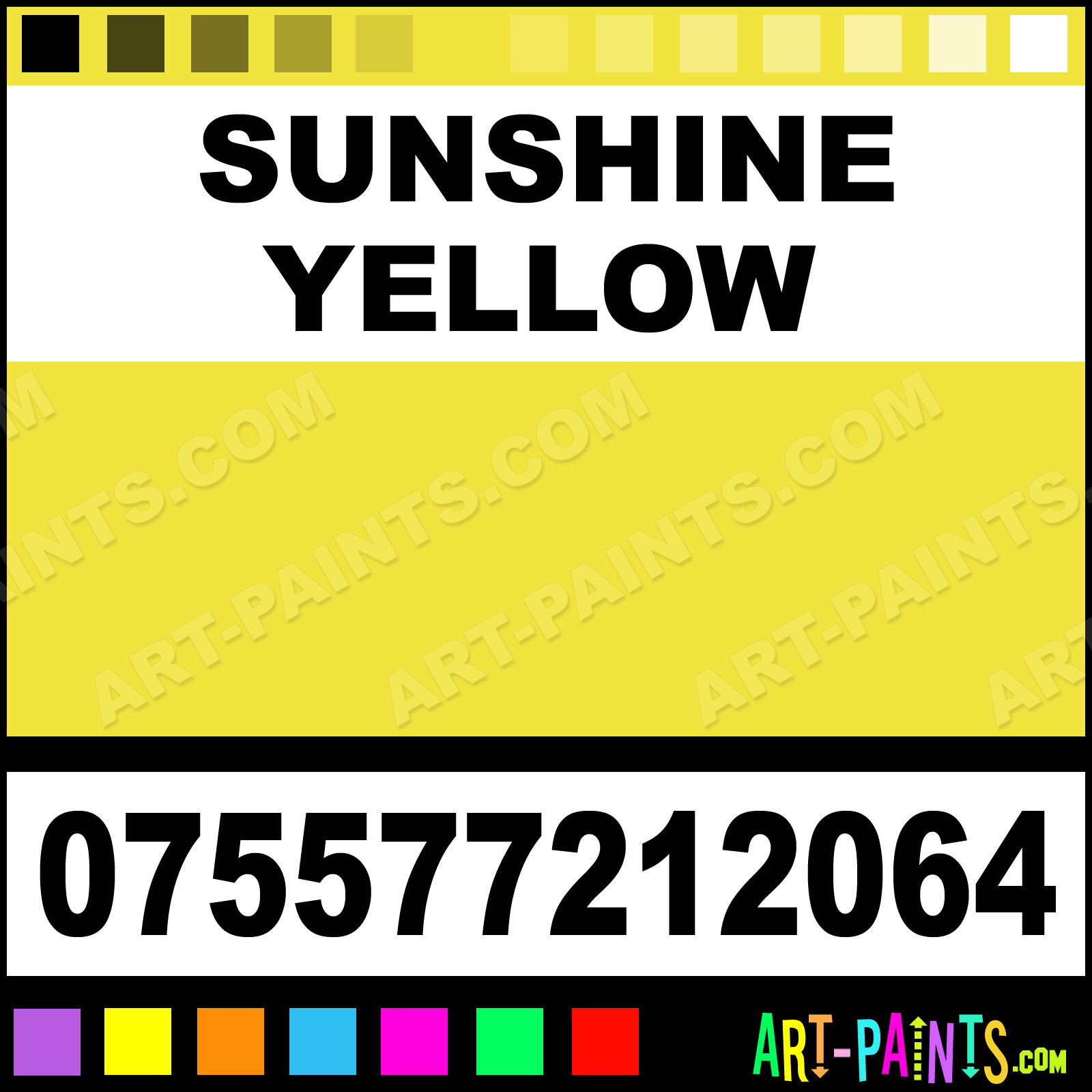 Sunshine Yellow Paint