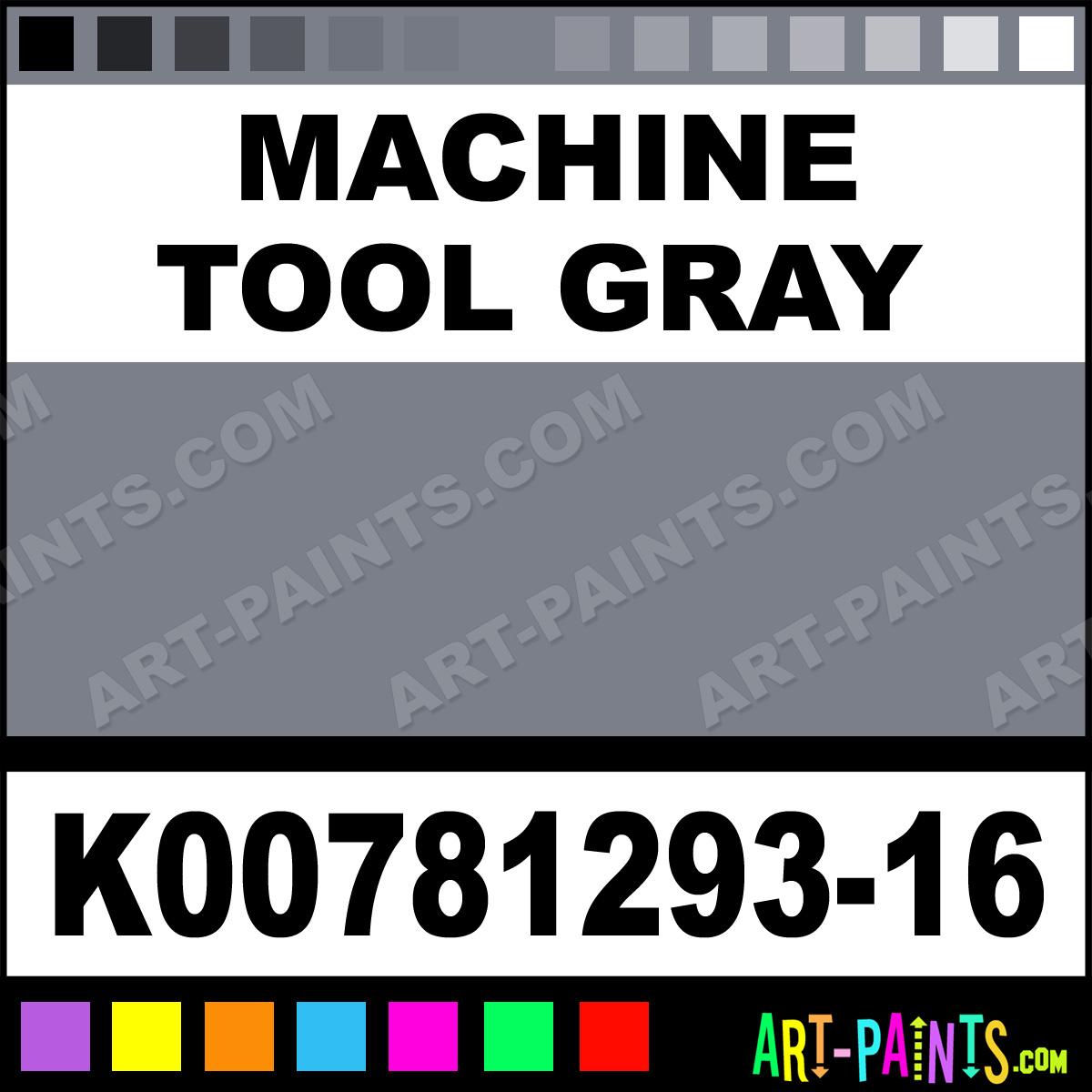 machine tool paint