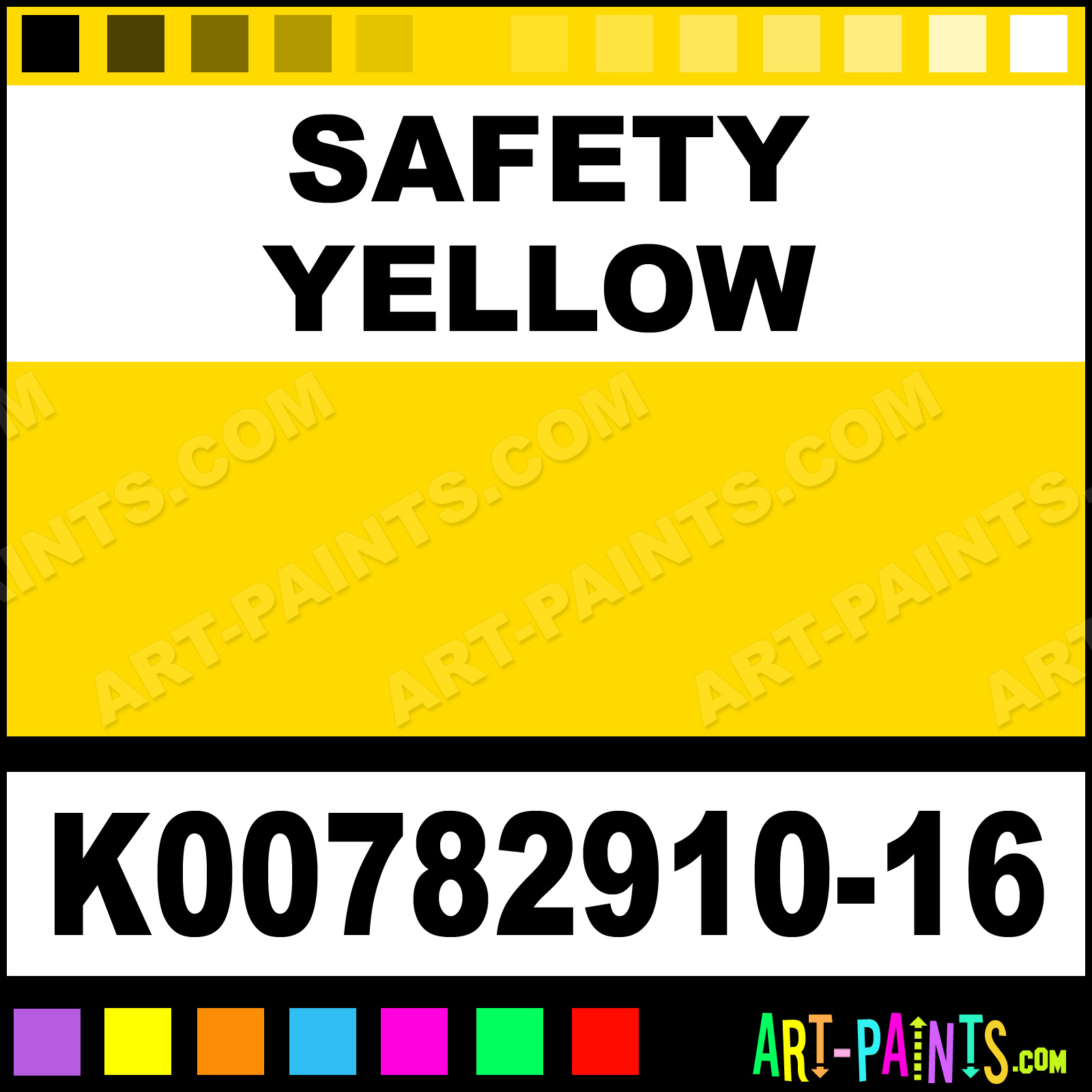 Safety Yellow Paint Safety Yellow