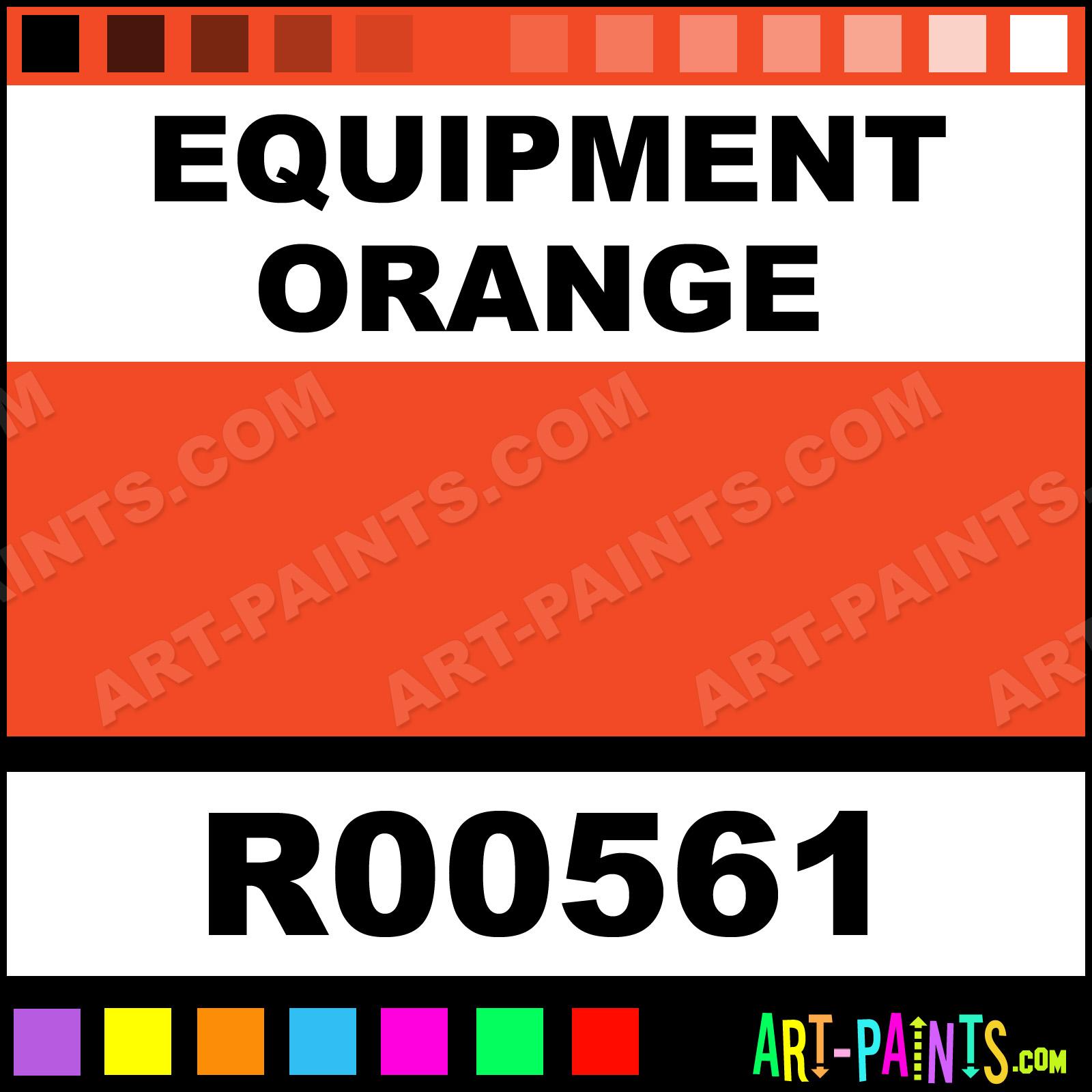 Equipment Orange Rust Tough Acrylic Alkyd Enamel Paints