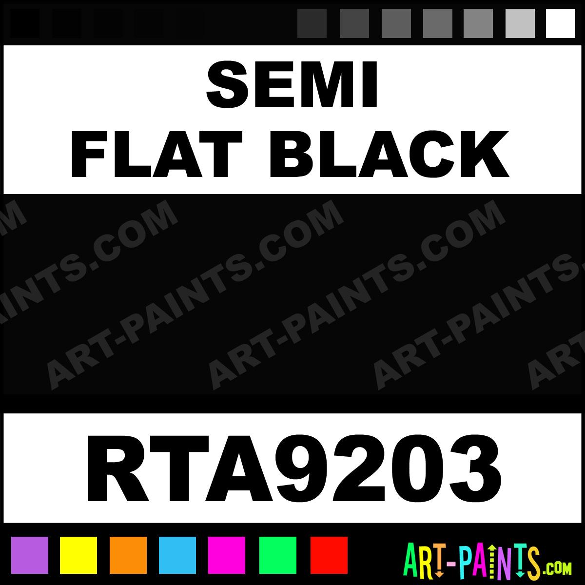 semi flat black rust tough enamel paints rta9203 semi. Black Bedroom Furniture Sets. Home Design Ideas