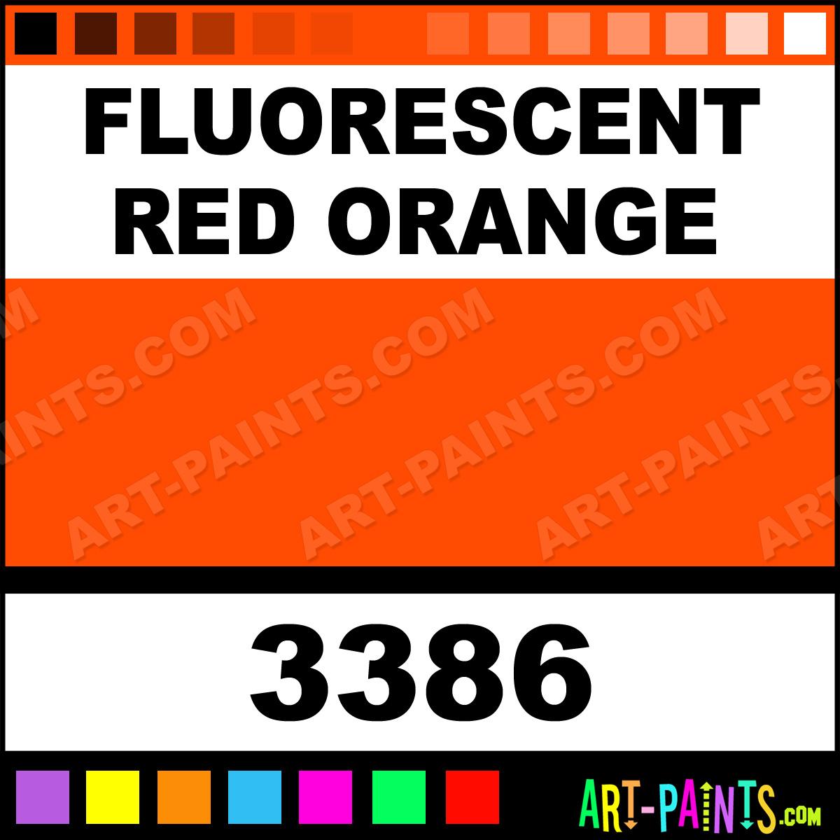 Fluorescent Red Orange Spray Enamel Paints 3386