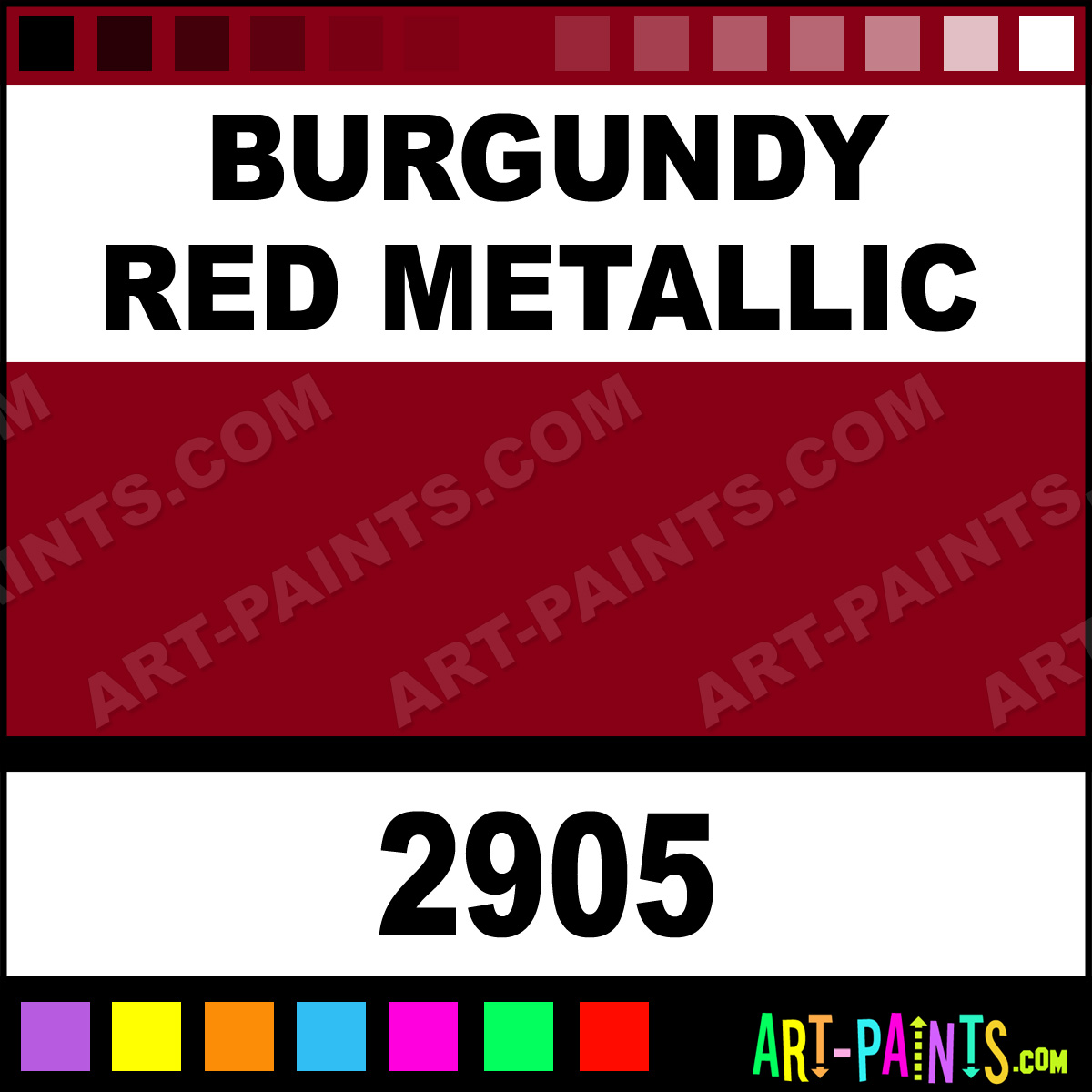 Burgundy Red Metallic Paint 2905 by Model Master Car and Truck PaintsRed Metallic Car Paint