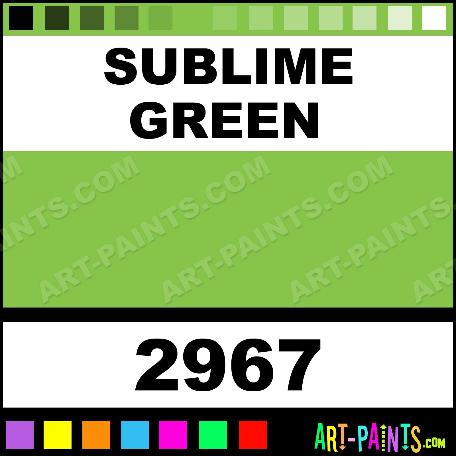 Green car paint colors - Sublime Green Sublime Green Paint