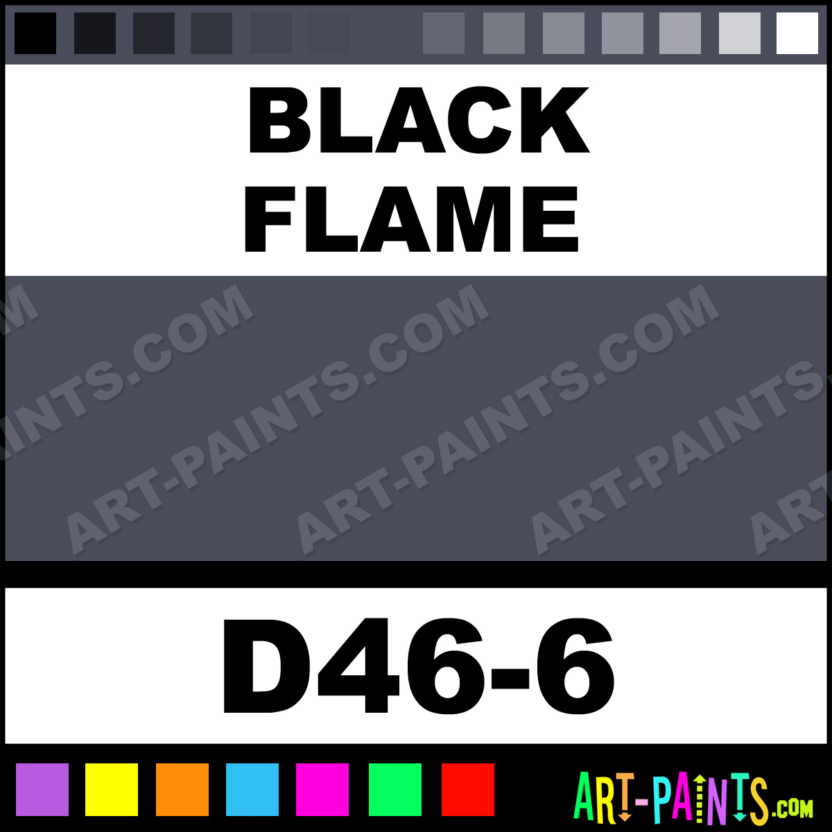 Black Flame Interior Exterior Enamel Paints D46 6