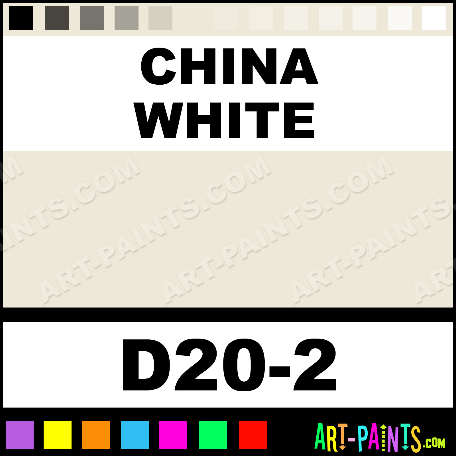 China White Interior Exterior Enamel Paints D20 2 China White Paint China White Color