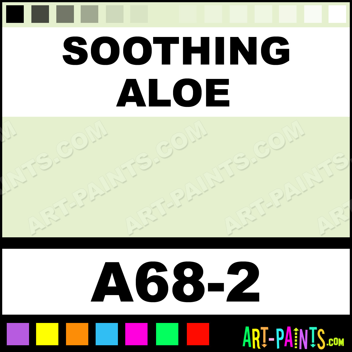 Soothing Aloe Interior Exterior Enamel Paints A68 2