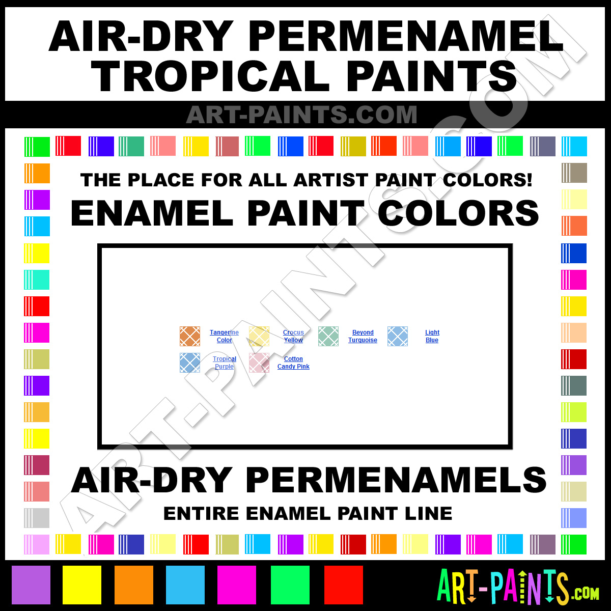 Permenamel tropical kit enamel paint colors permenamel for Tropical paint colors