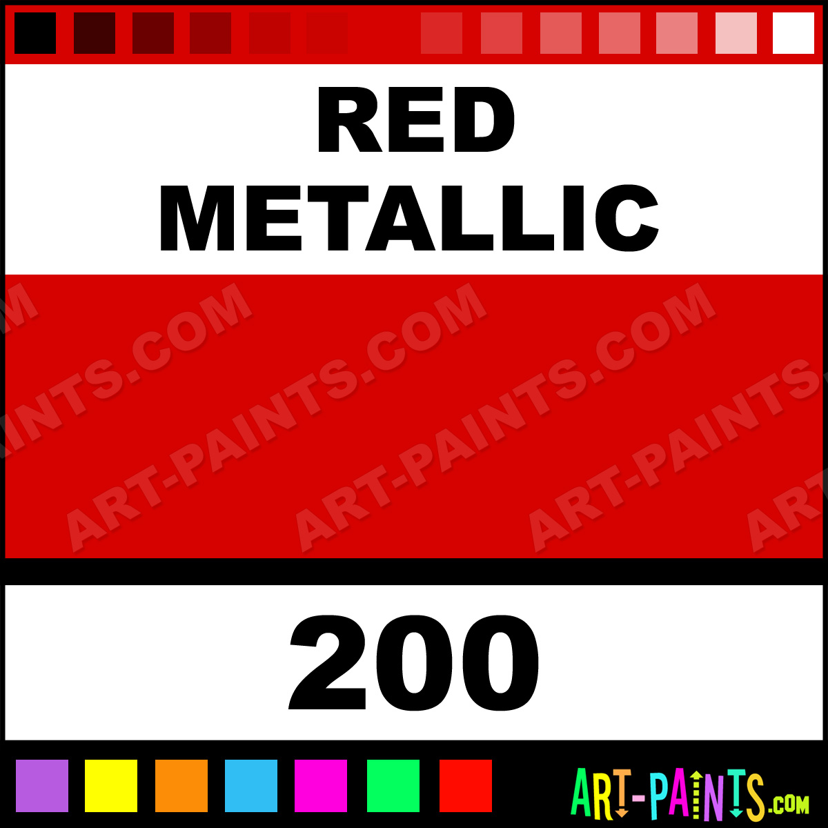Red metallic fast dry enamel paints 200 red metallic for Fast drying craft paint