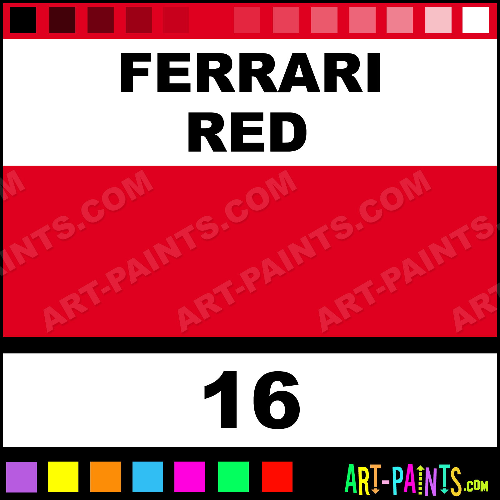 Ferrari Red Acrylic Enamel Paints
