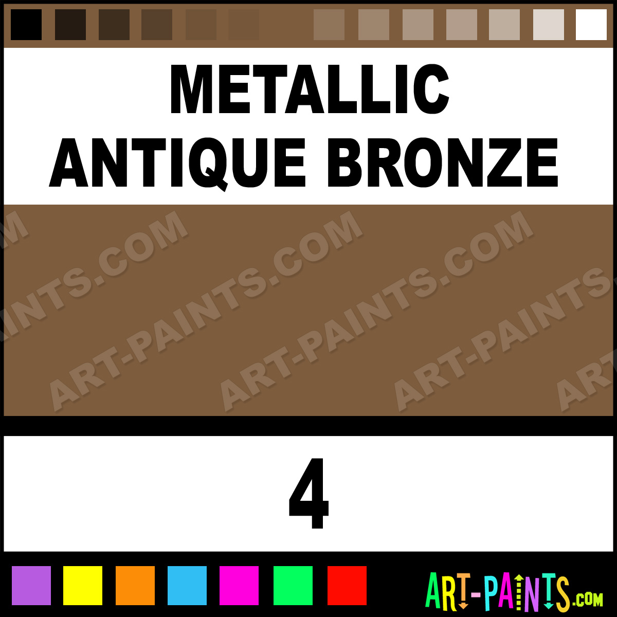 Metallic Antique Bronze Acrylic Enamel Paints 4 Metallic Antique Bronze P