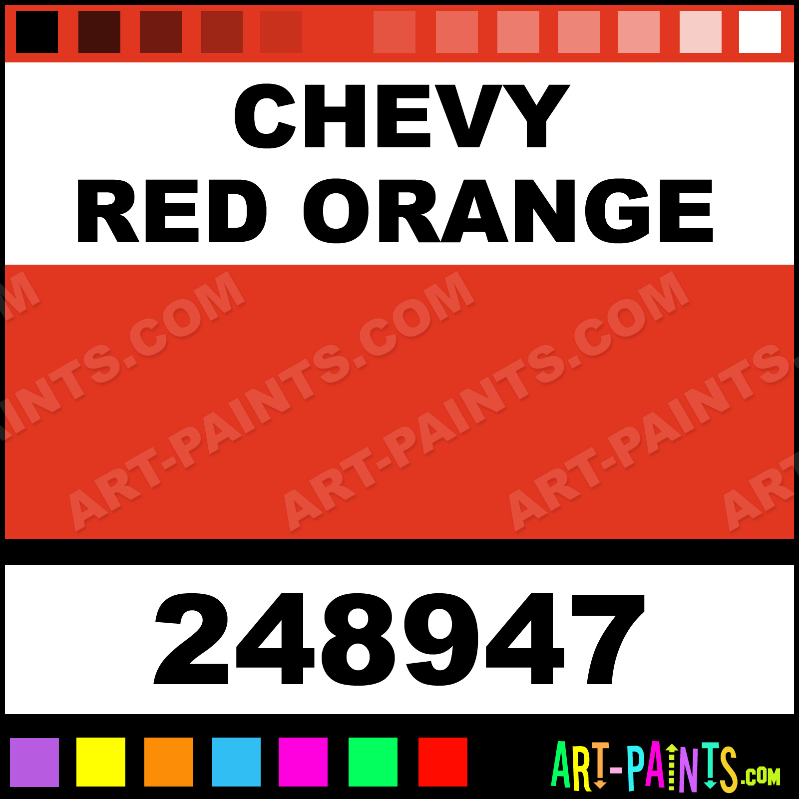 Chevy Red Orange Paint