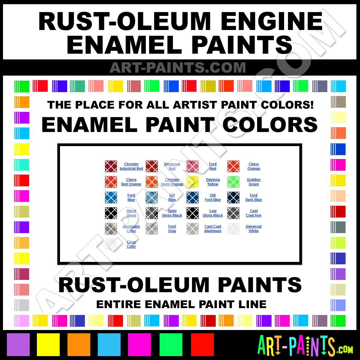 Rust Oleum Engine Enamel Enamel Paint Colors Rust Oleum