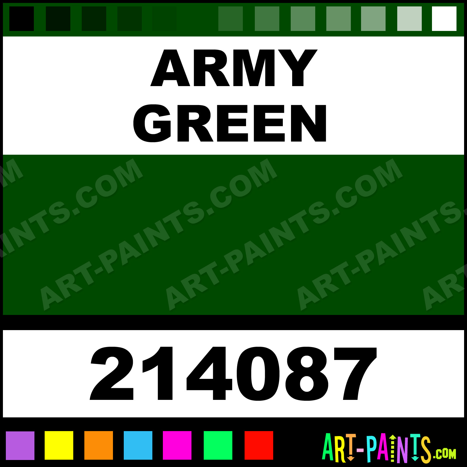 Army Green Gloss Protective Enamel Paints 214087