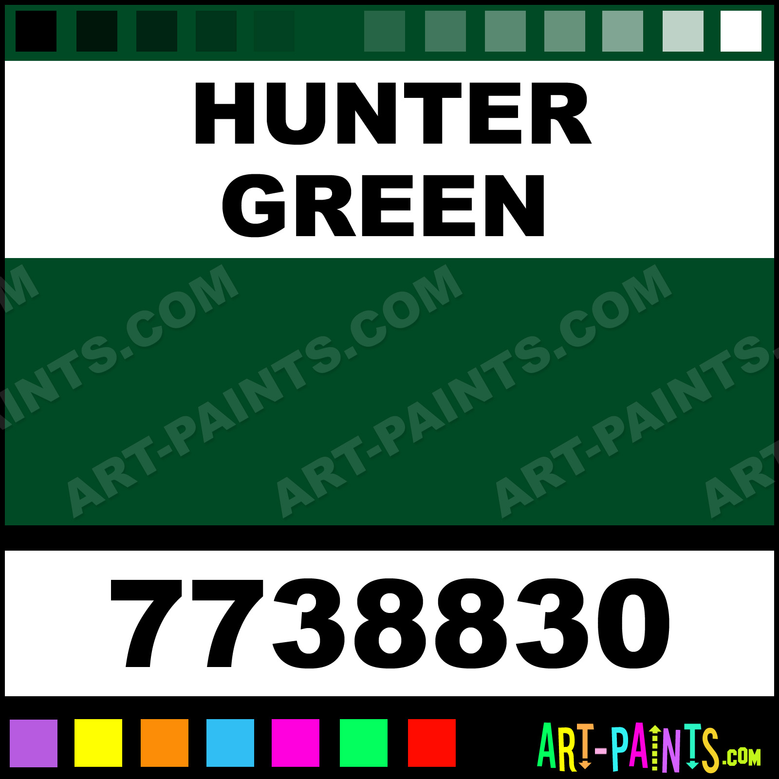 Hunter Green Gloss Protective Enamel Paints - 7738830