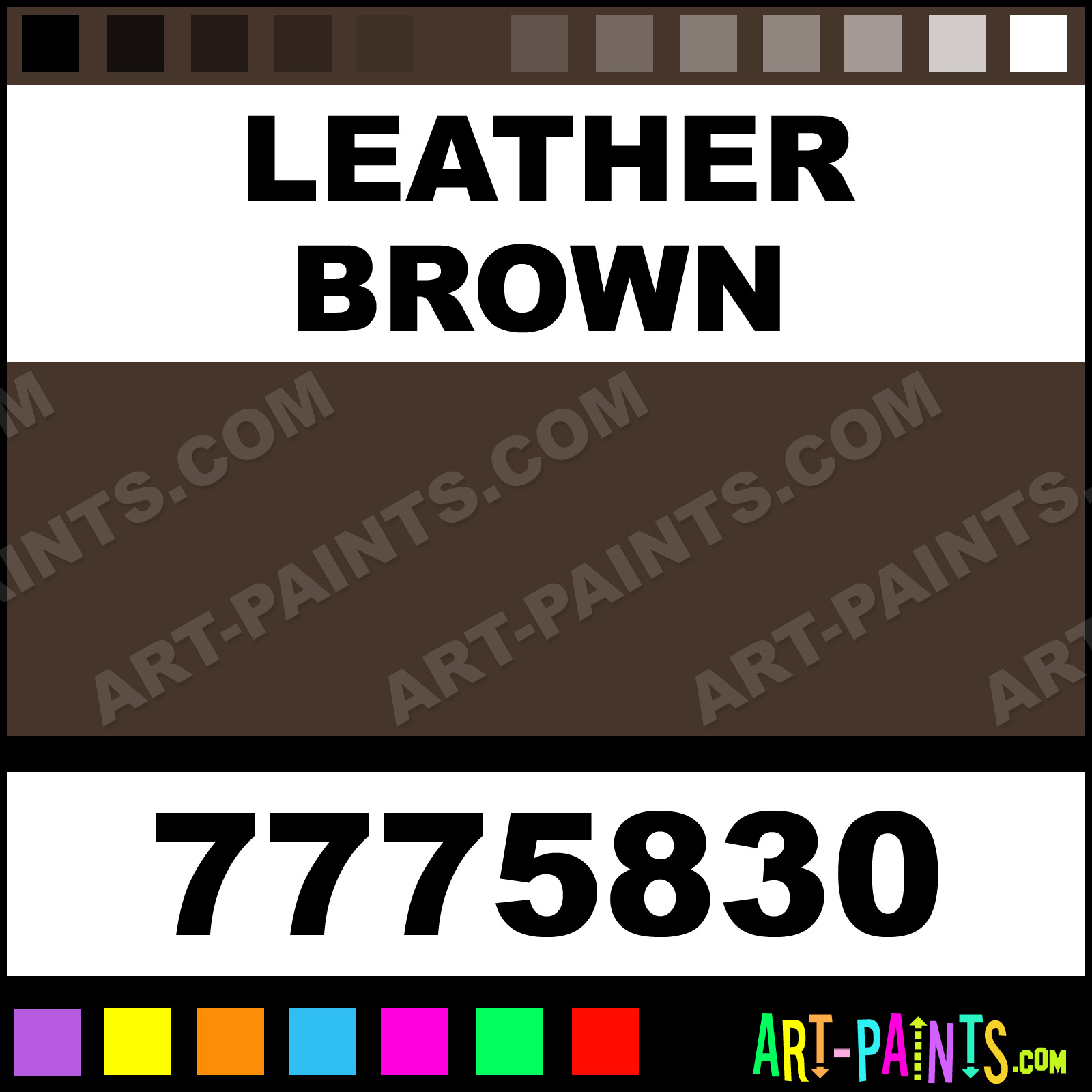 Leather Brown Paint