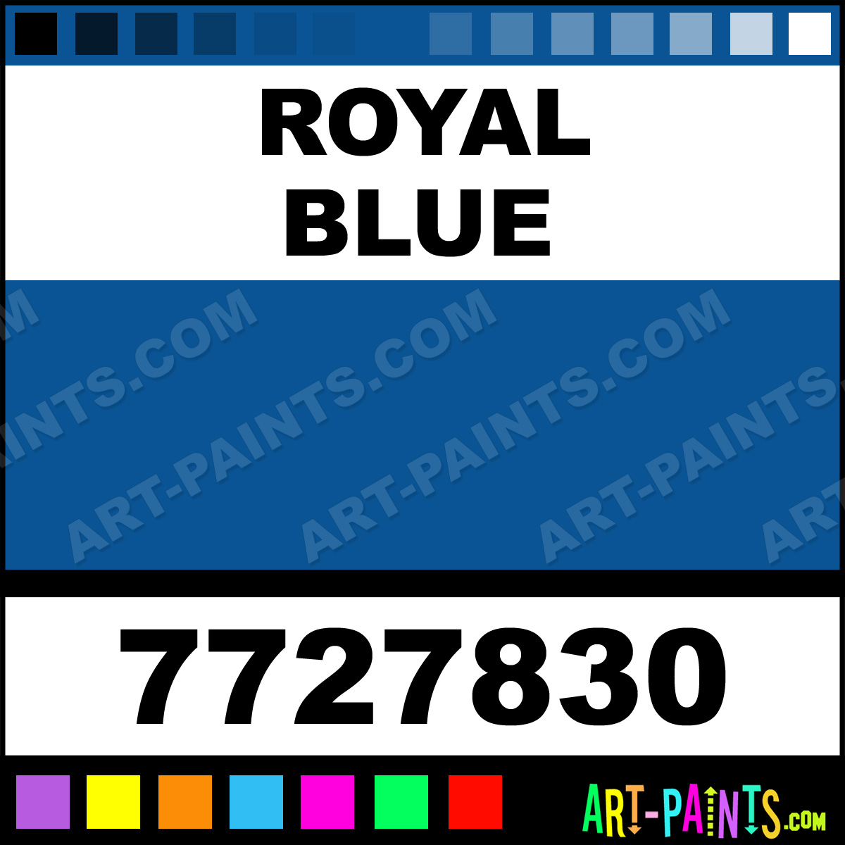 Royal Blue Gloss Protective Enamel Paints 7727830