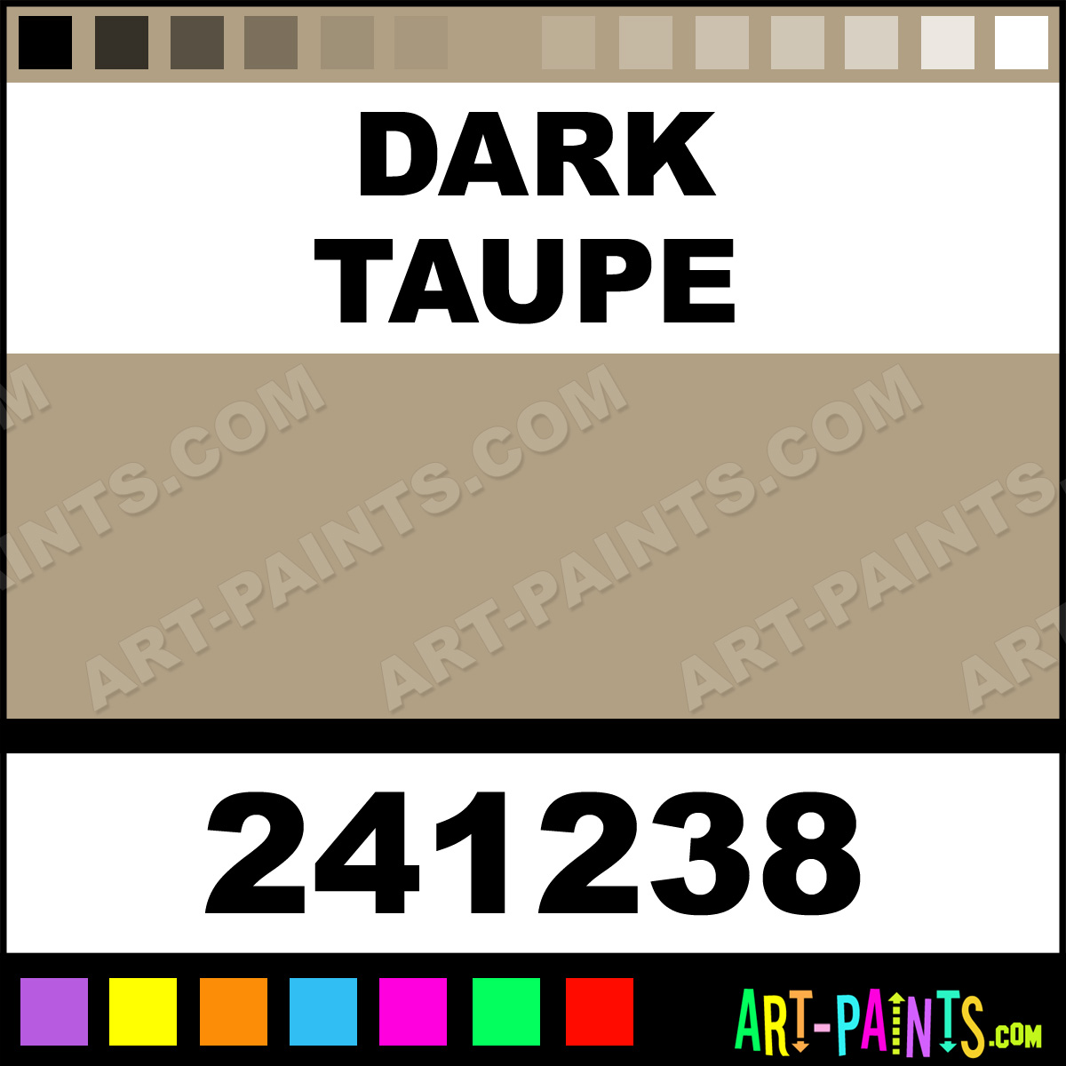 Dark Taupe Satin Enamel Paints 241238 Dark Taupe Paint