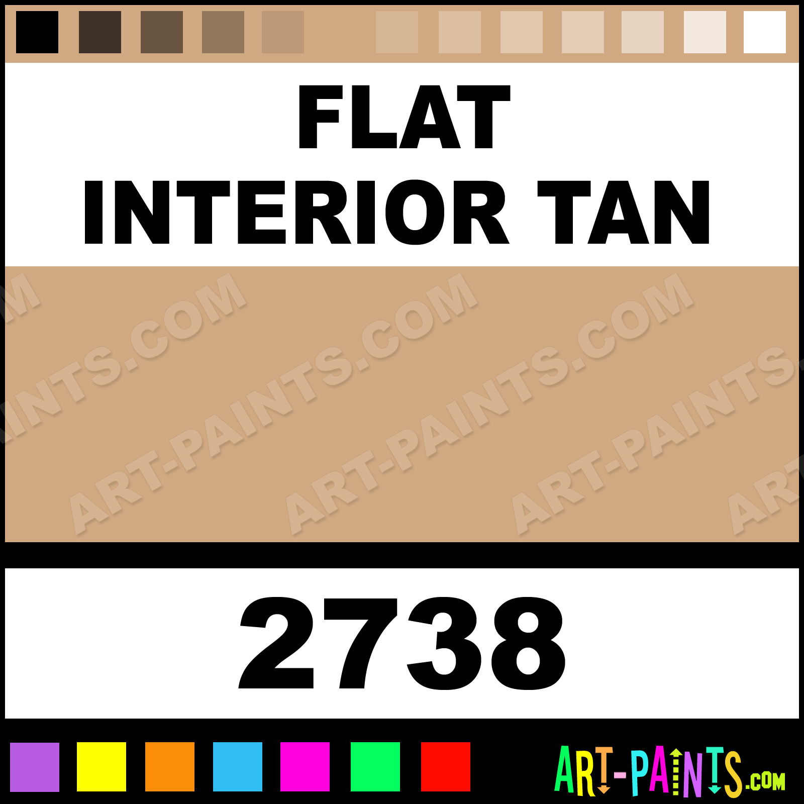 flat interior tan car and truck enamel paints 2738 flat interior tan paint flat interior. Black Bedroom Furniture Sets. Home Design Ideas